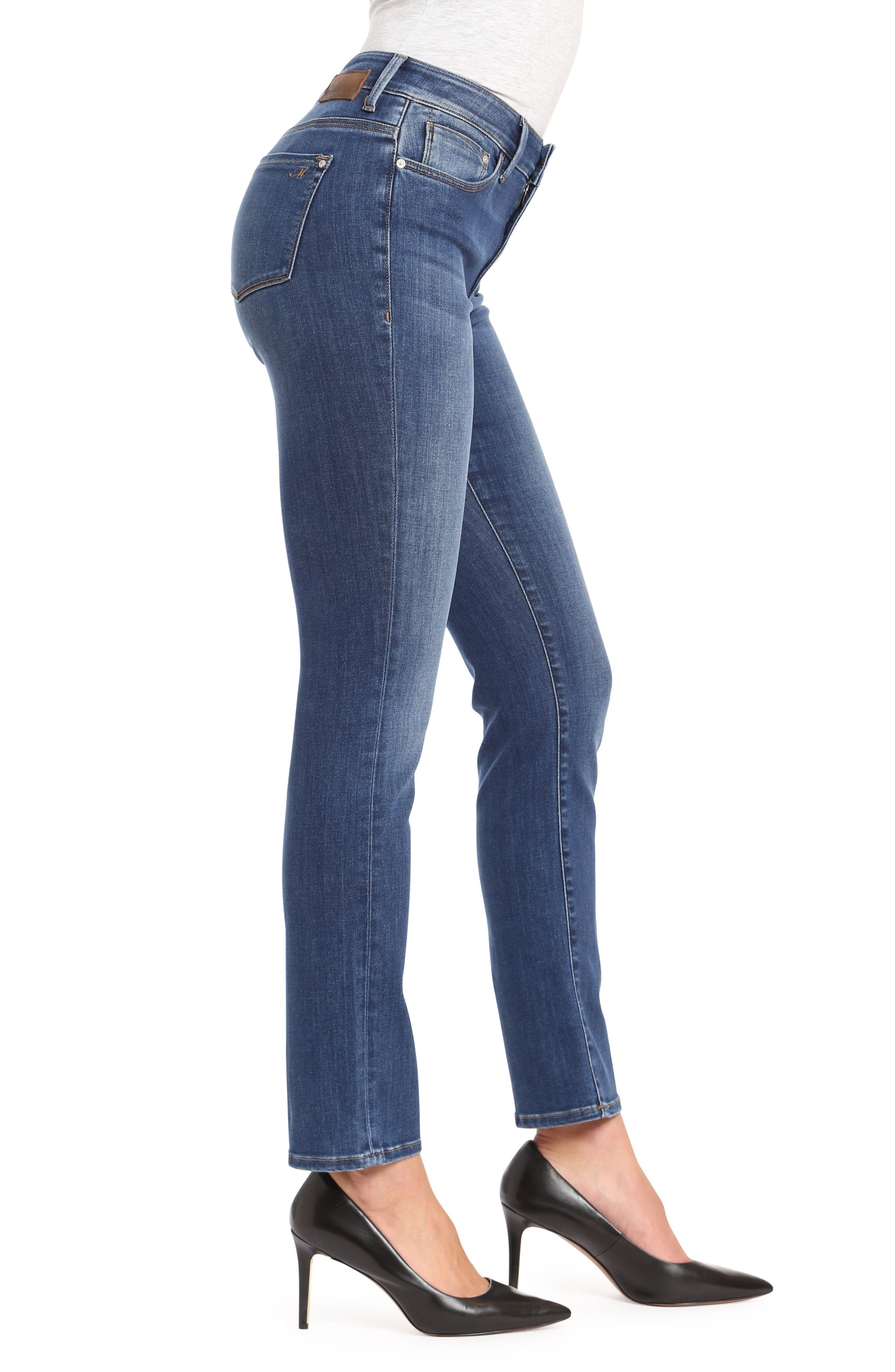 Kendra Straight Leg Jeans,                             Alternate thumbnail 3, color,                             INDIGO SUPER SOFT