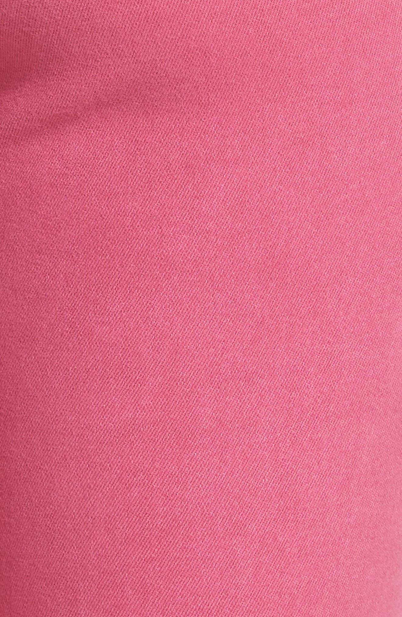 Connie Frayed Hem Crop Skinny Jeans,                             Alternate thumbnail 5, color,                             665