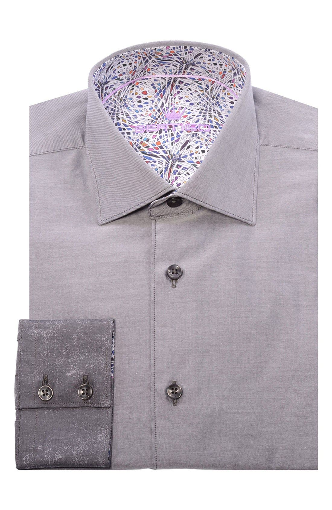 Abstract Modern Fit Sport Shirt,                             Alternate thumbnail 4, color,                             060