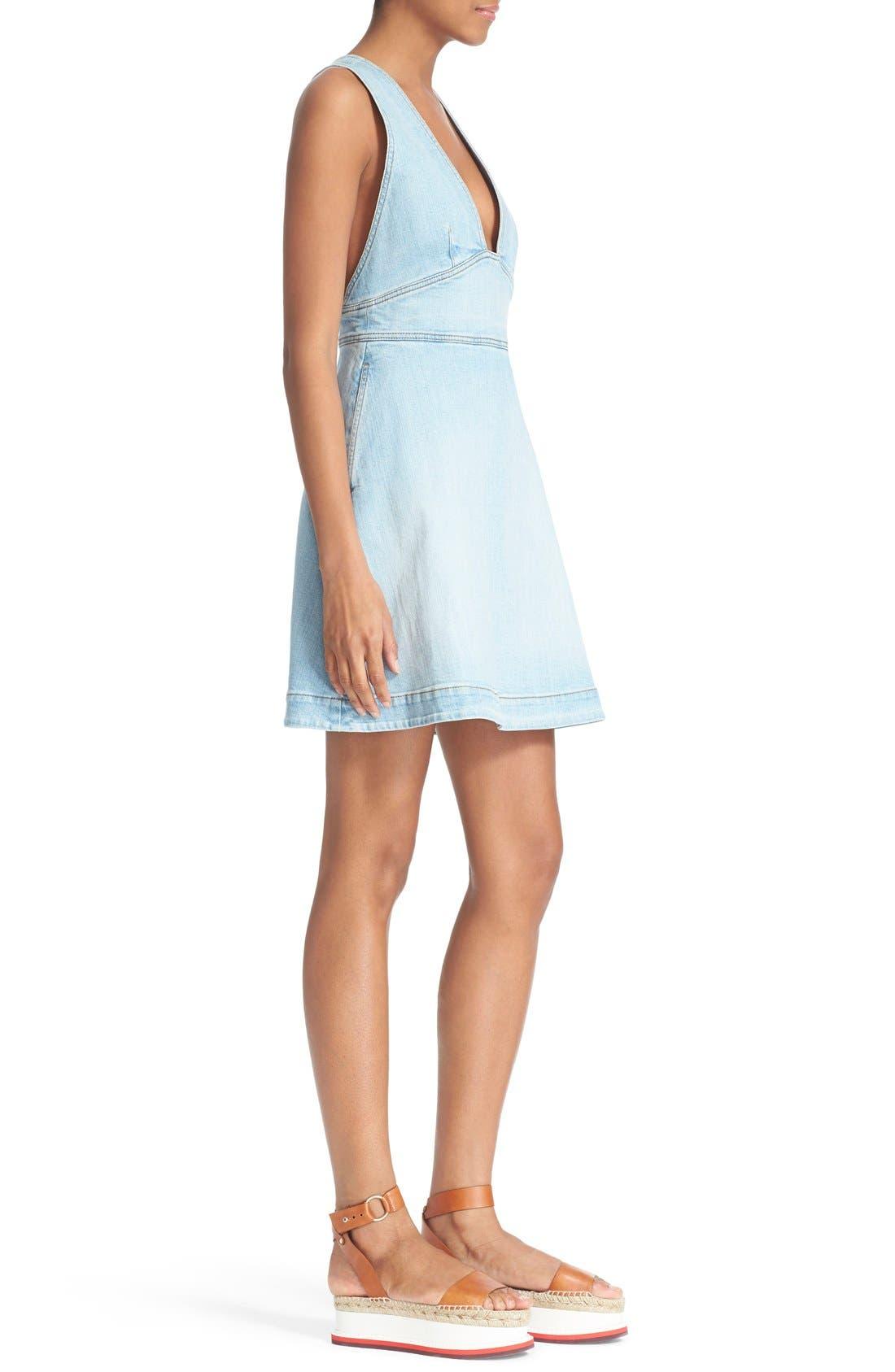 'Anne' Denim Dress,                             Alternate thumbnail 2, color,                             476