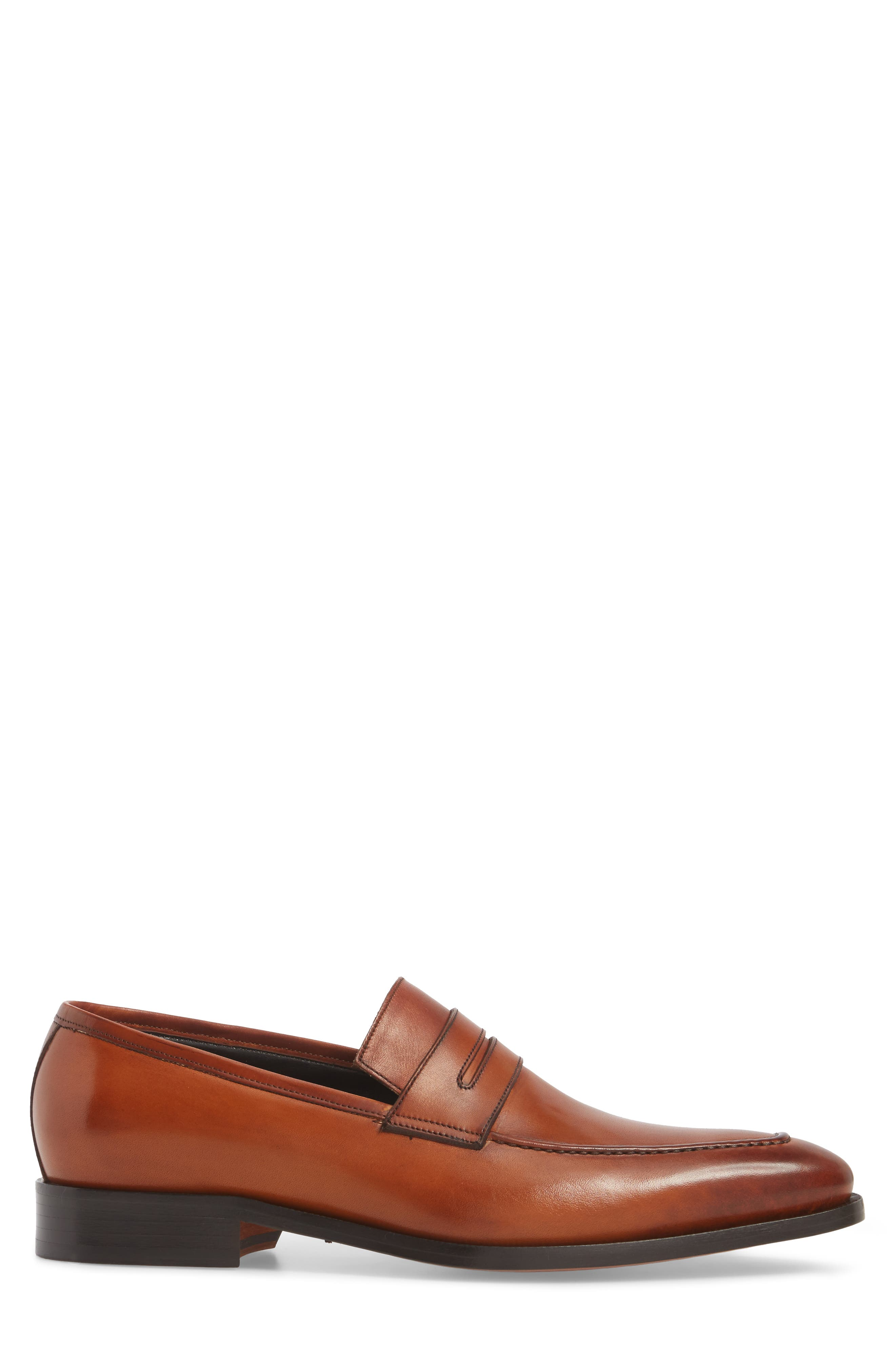 Eastwood Apron Toe Penny Loafer,                             Alternate thumbnail 3, color,                             231