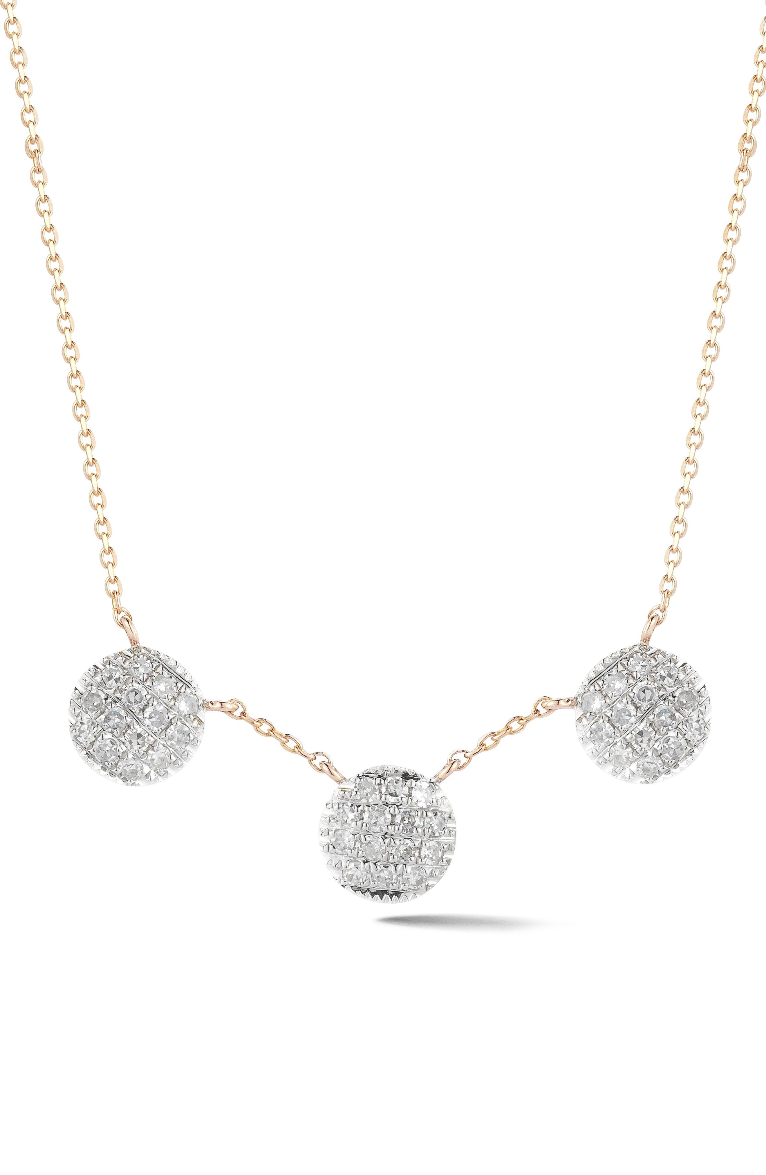 Lauren Joy Three-Disc Diamond Necklace,                         Main,                         color, 710