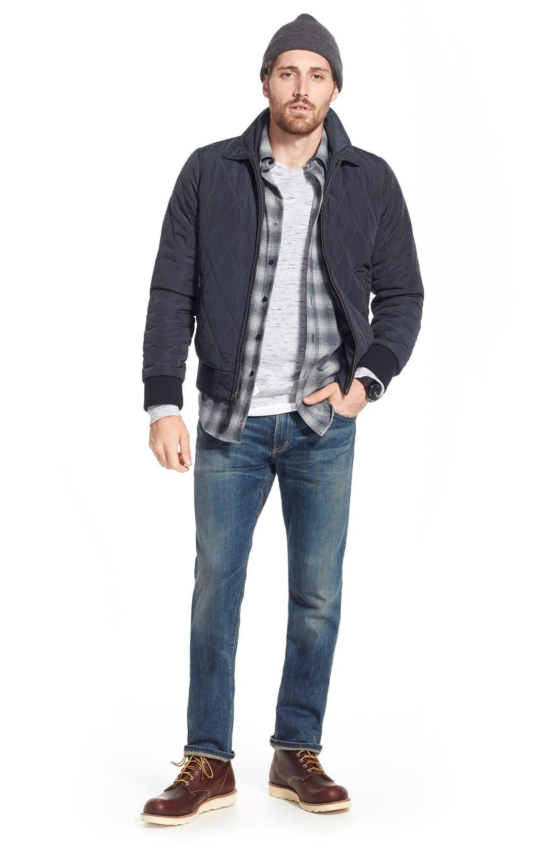 'Core' Slim Straight Leg Jeans,                             Alternate thumbnail 4, color,