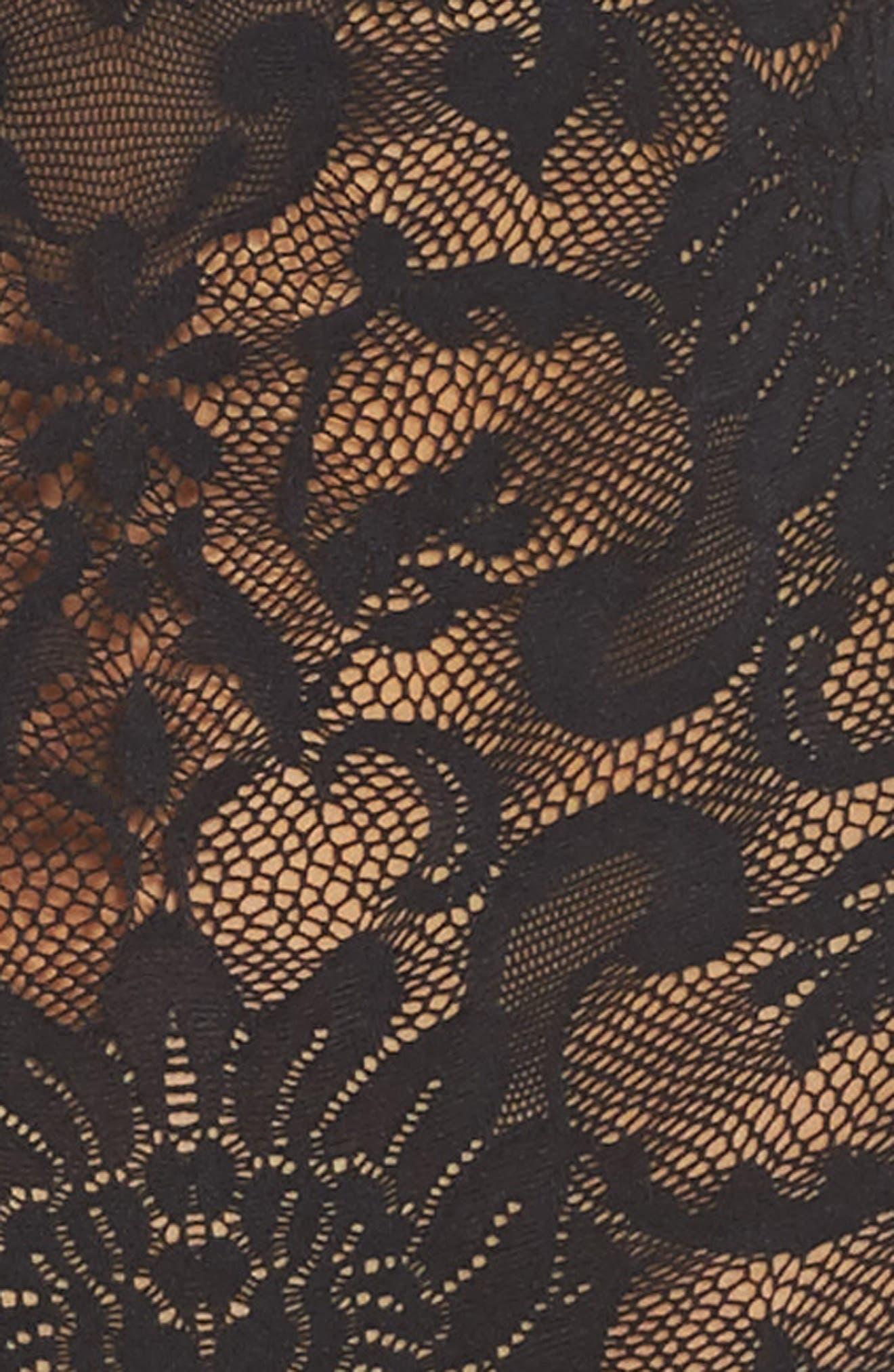 Eliza Off the Shoulder Lace Bodysuit,                             Alternate thumbnail 4, color,                             002