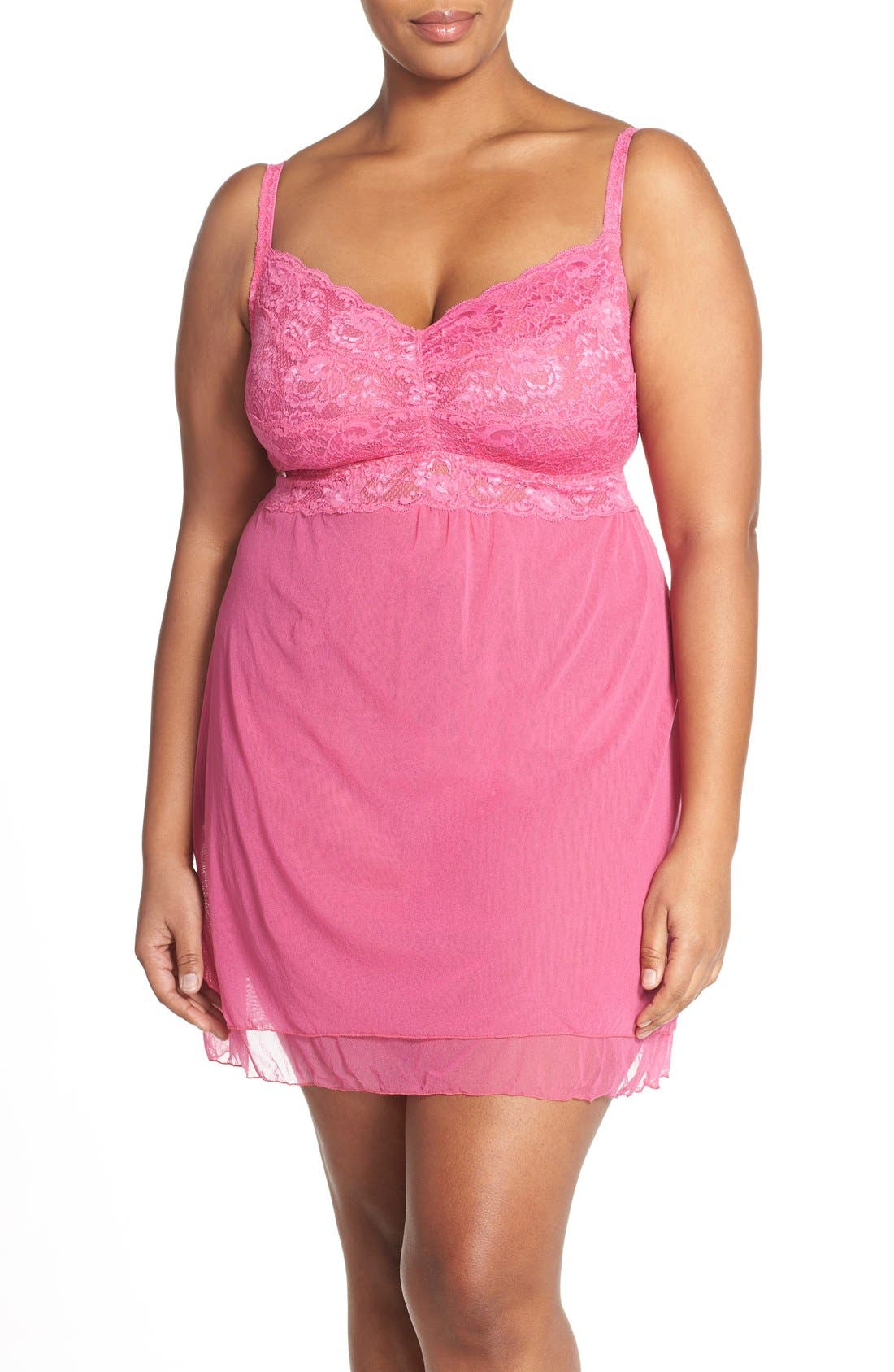 'Never Say Never' Babydoll Chemise,                             Main thumbnail 6, color,