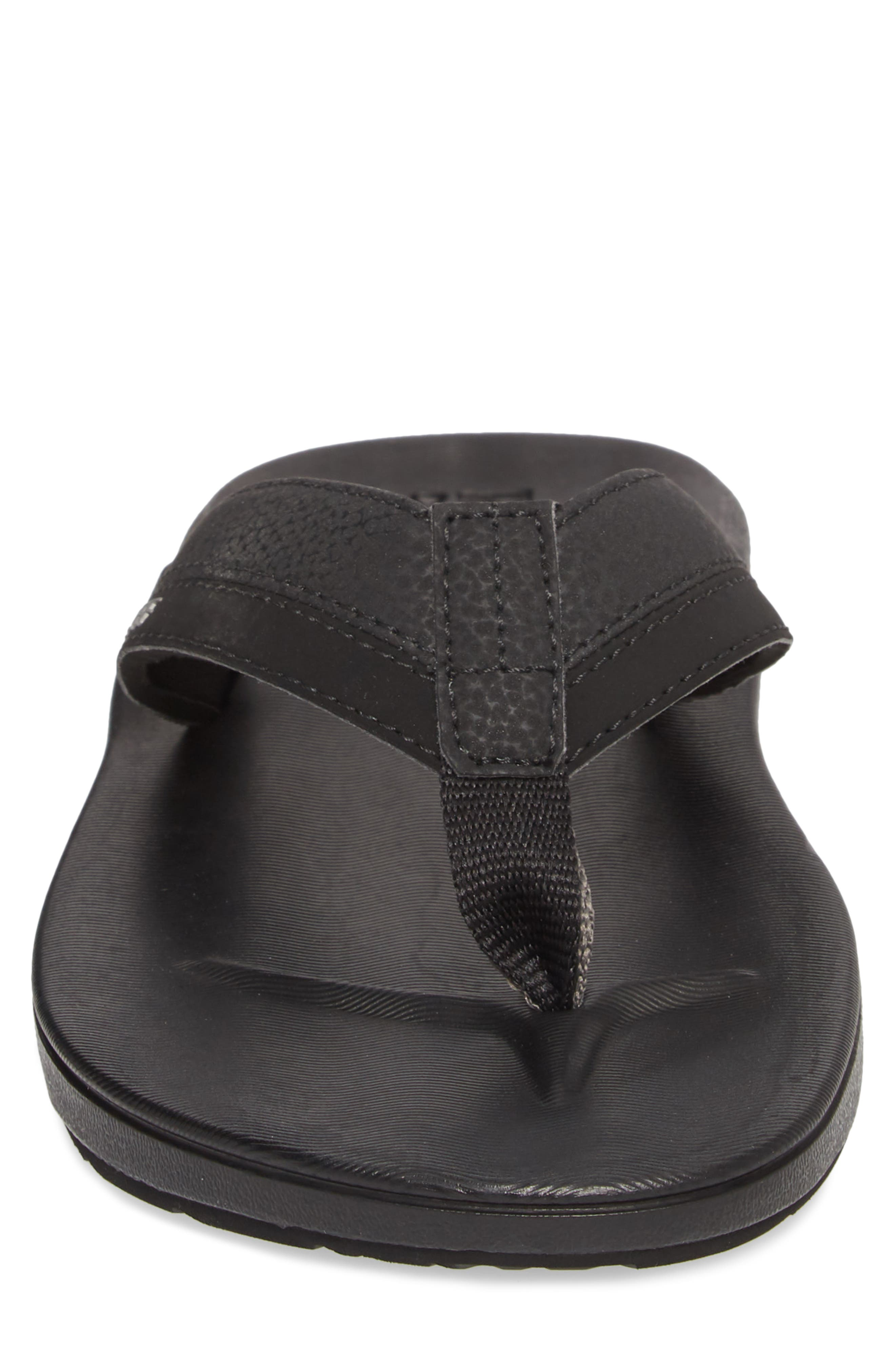 Contoured Cushion Flip Flop,                             Alternate thumbnail 4, color,                             BLACK