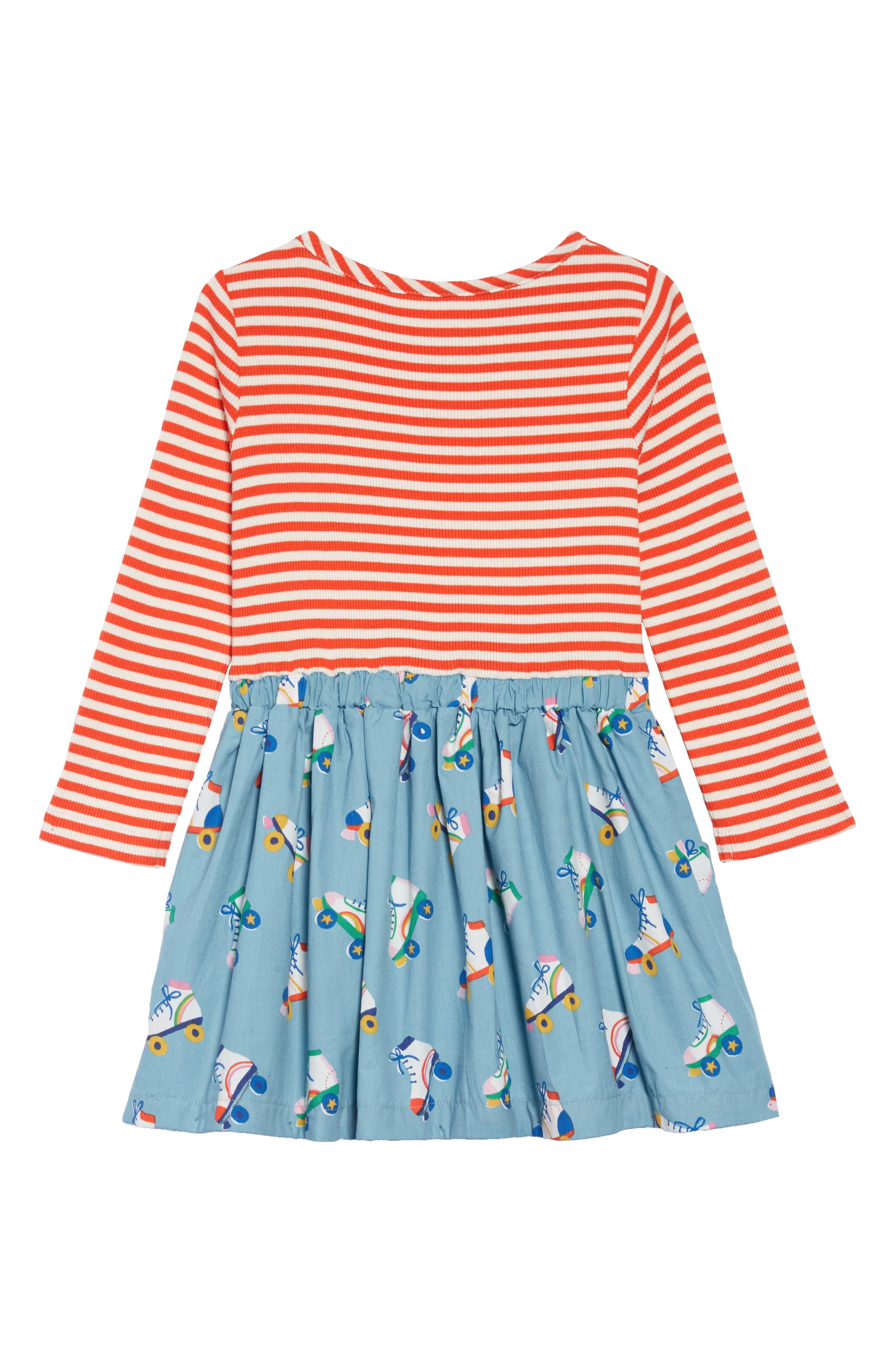 Hopscotch Dress,                             Alternate thumbnail 2, color,                             BLUE ROLLER SKATES