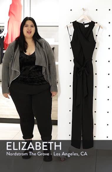 Cross Front Halter Jumpsuit, sales video thumbnail
