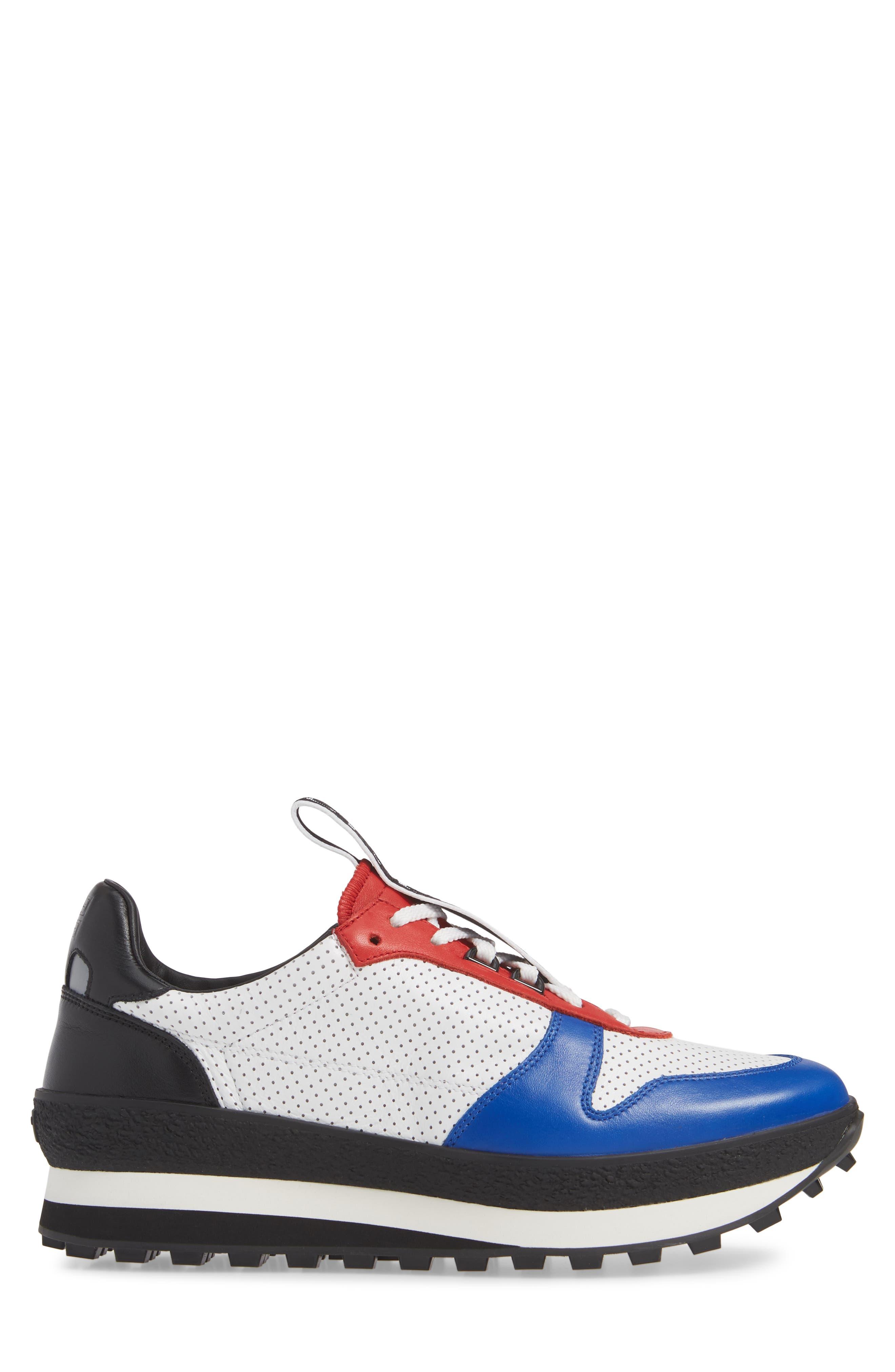 TR3 Low Runner Sneaker,                             Alternate thumbnail 3, color,                             WHITE/ RED/ BLACK
