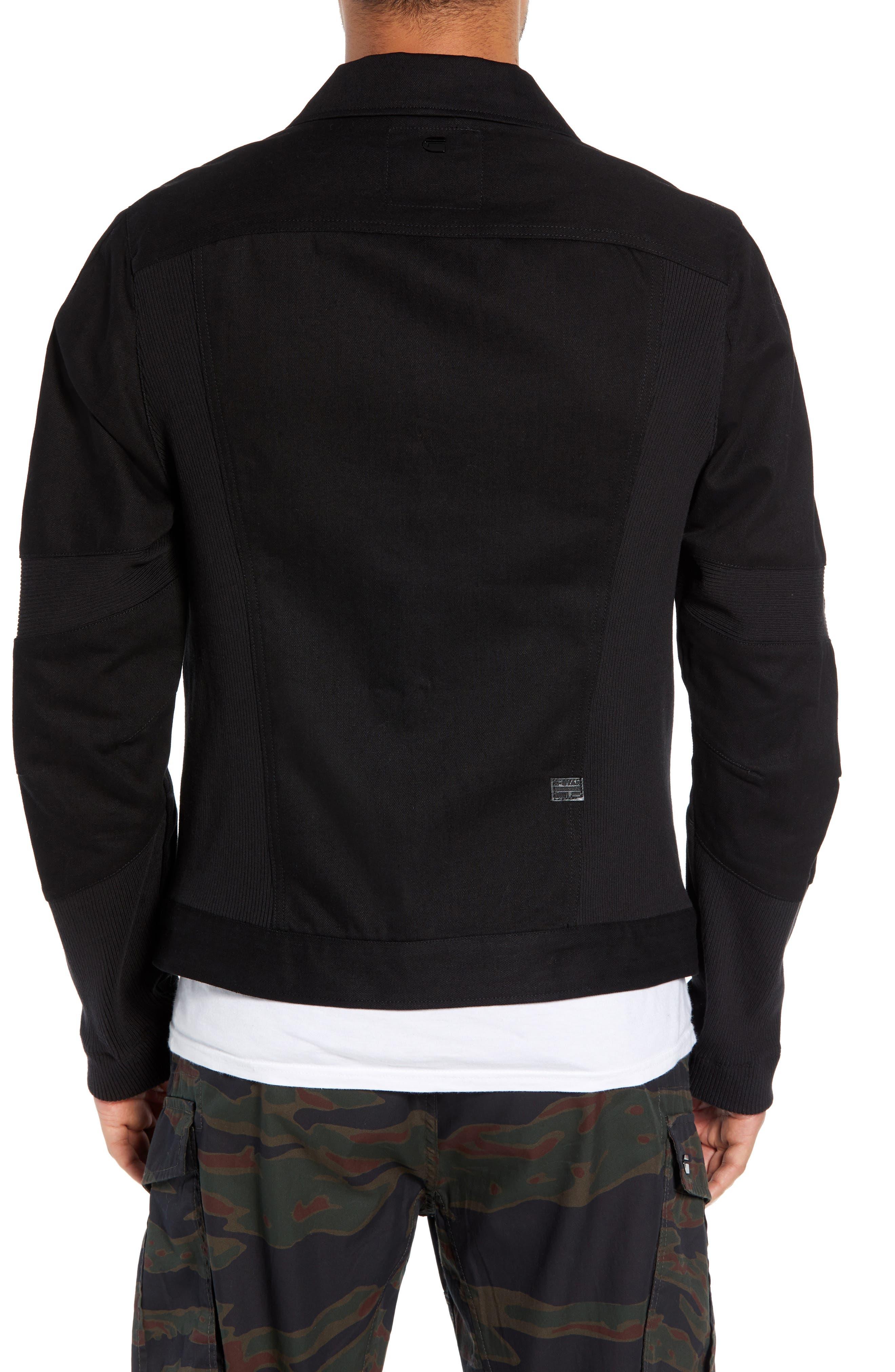 Motac-X Moto Uni Slim Cotton Denim Jacket,                             Alternate thumbnail 2, color,                             RAW DENIM