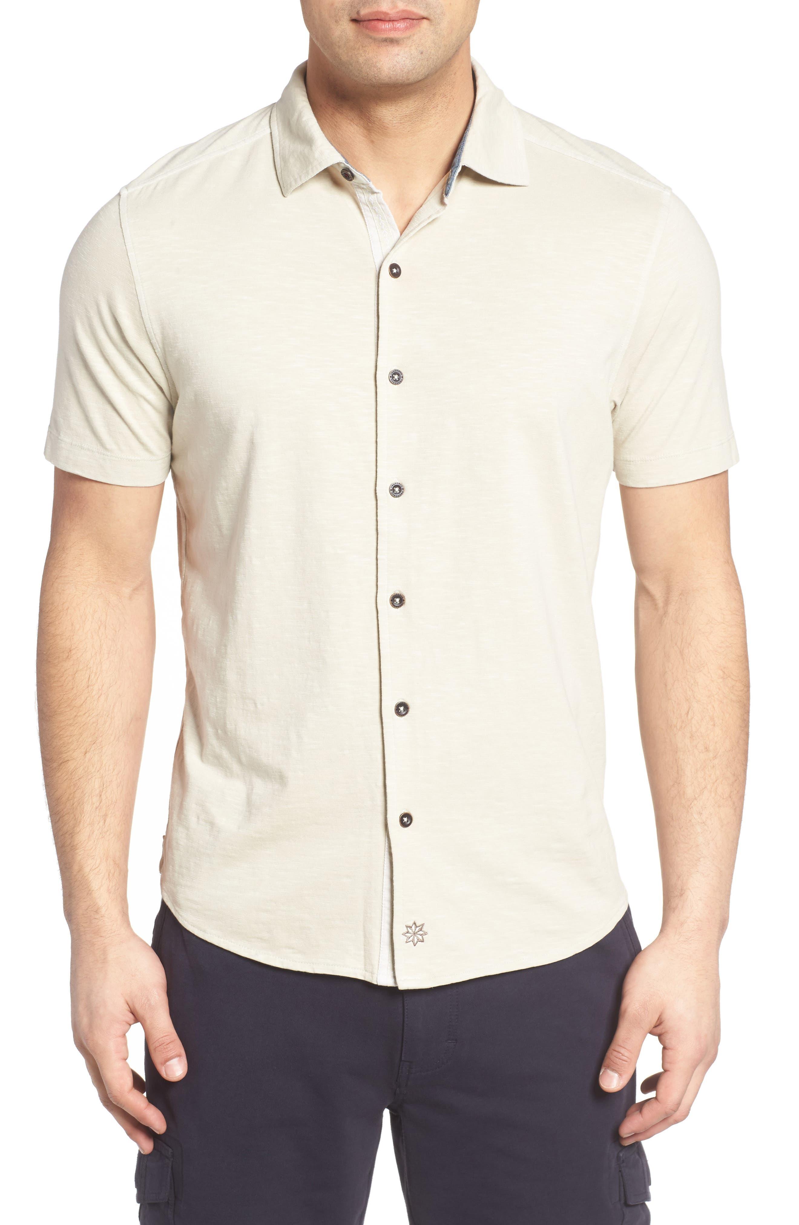 McAdams Slub Jersey Sport Shirt,                             Main thumbnail 2, color,