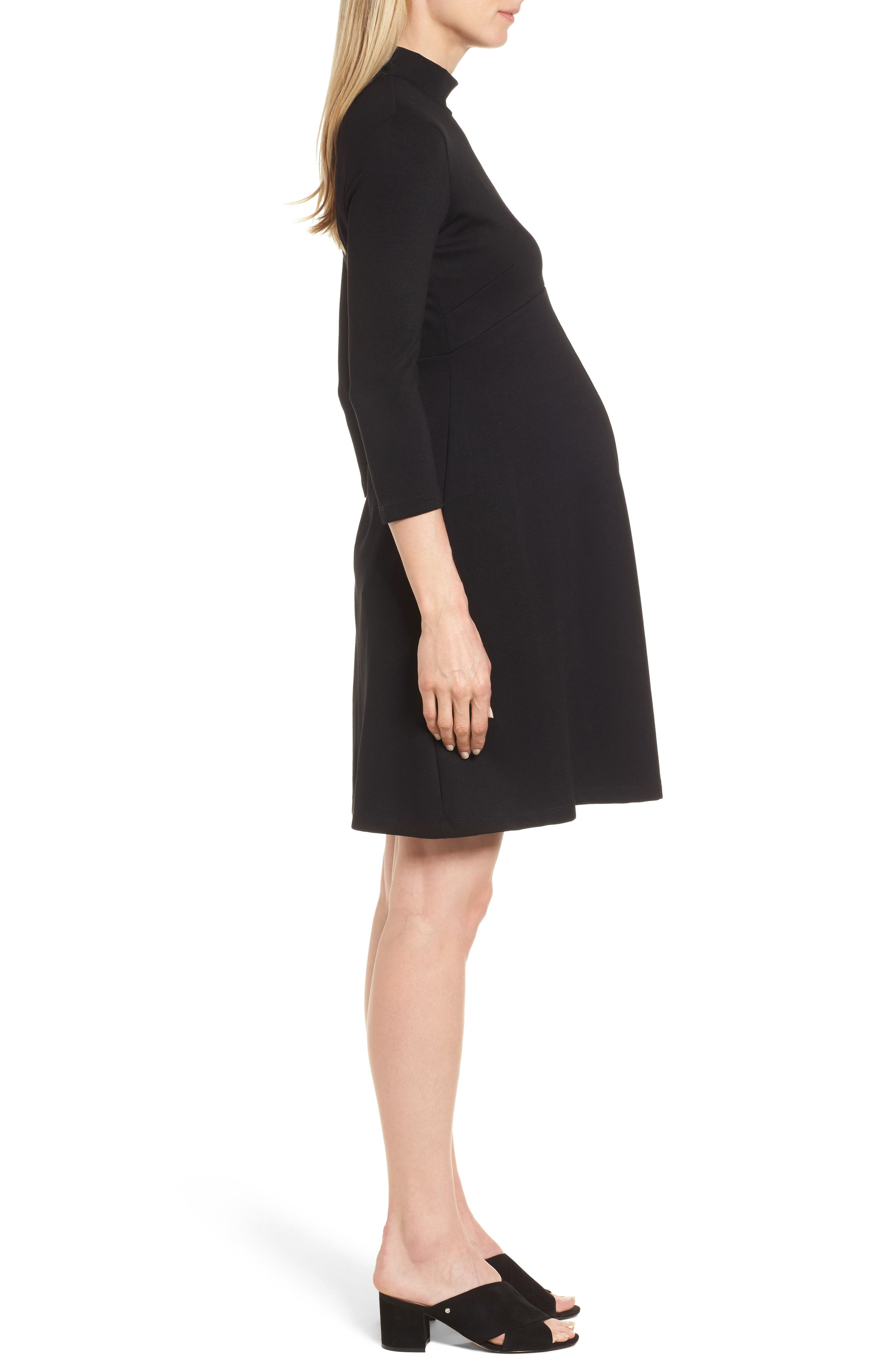 Kennett Maternity Dress,                             Alternate thumbnail 3, color,                             001