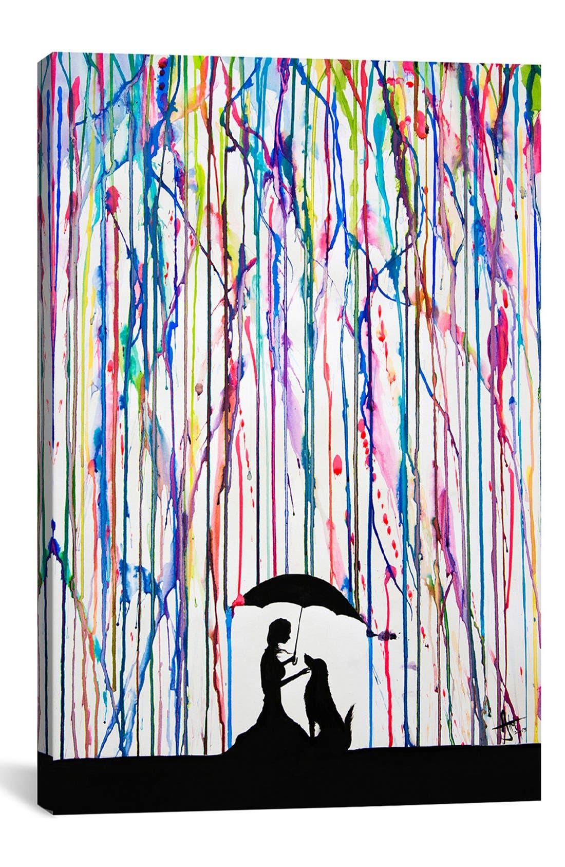 'Sempre' Giclée Print Canvas Art,                             Main thumbnail 1, color,                             PURPLE