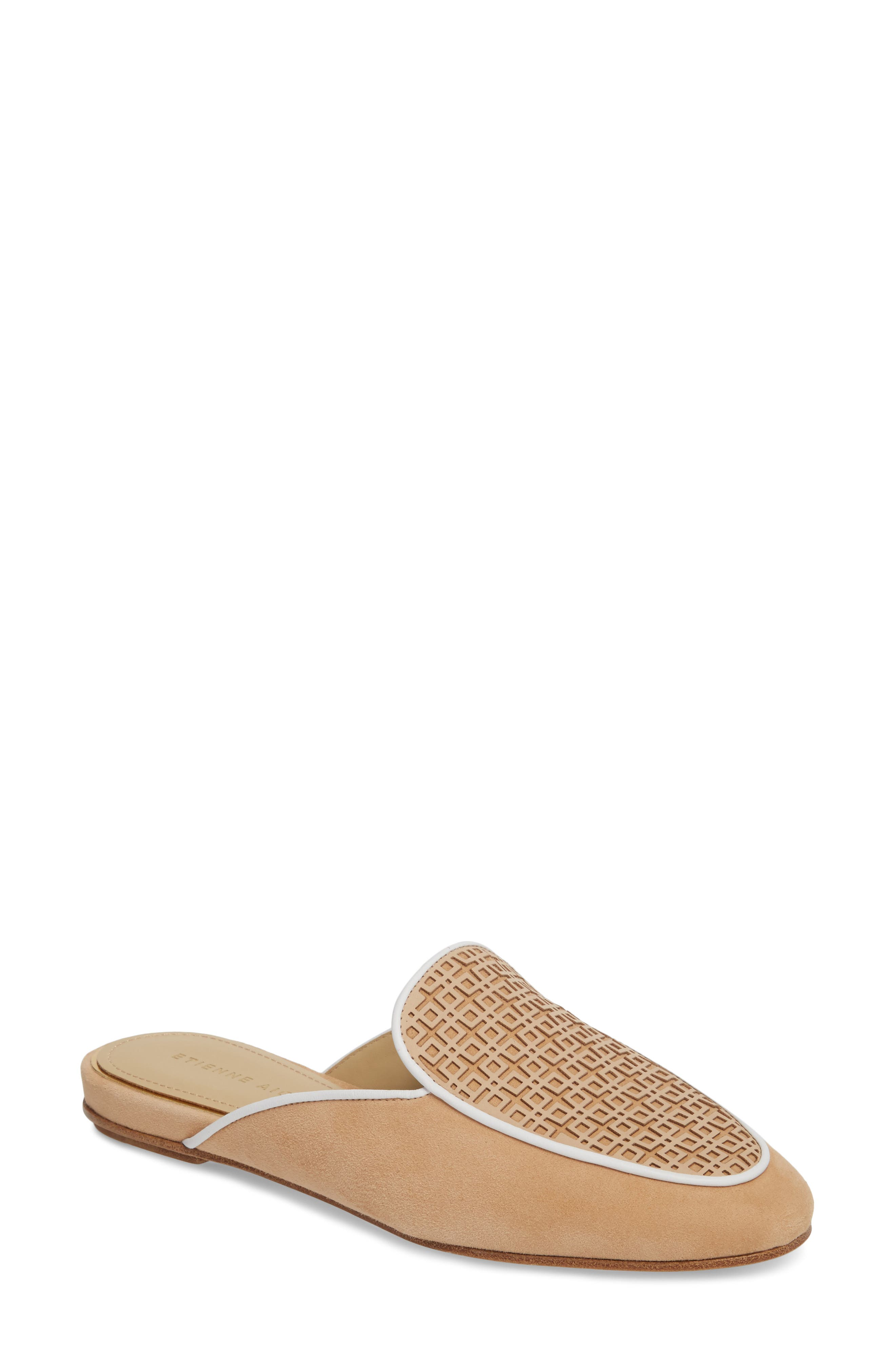 Caymen Mule,                             Main thumbnail 1, color,                             NATURAL/ FAWN/ WHITE