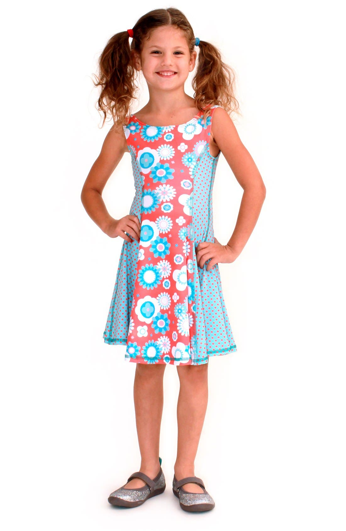 Flow Mixed Print Dress,                             Main thumbnail 13, color,