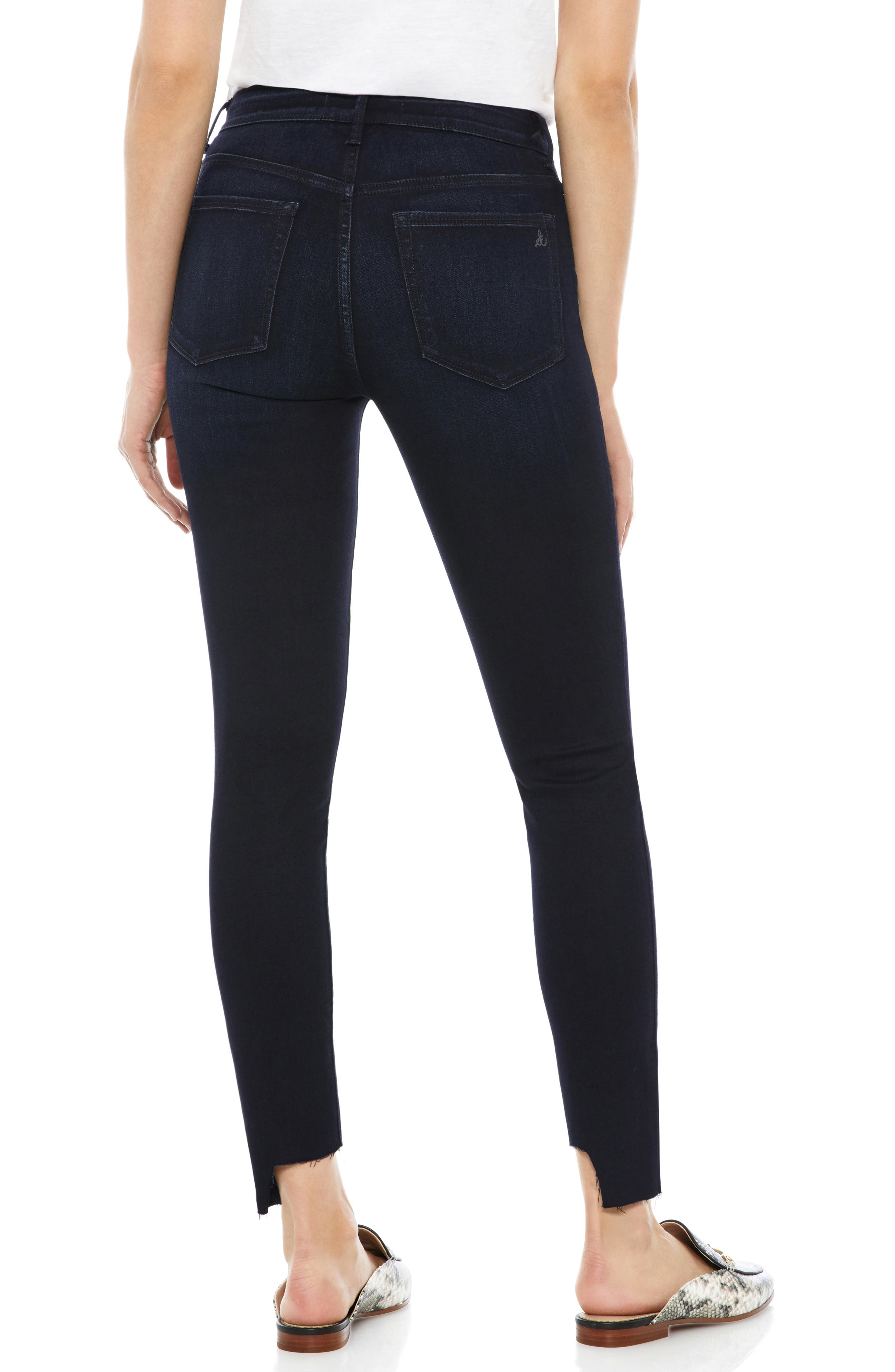 The Stiletto Pintuck High Rise Skinny Jeans,                             Alternate thumbnail 2, color,                             400
