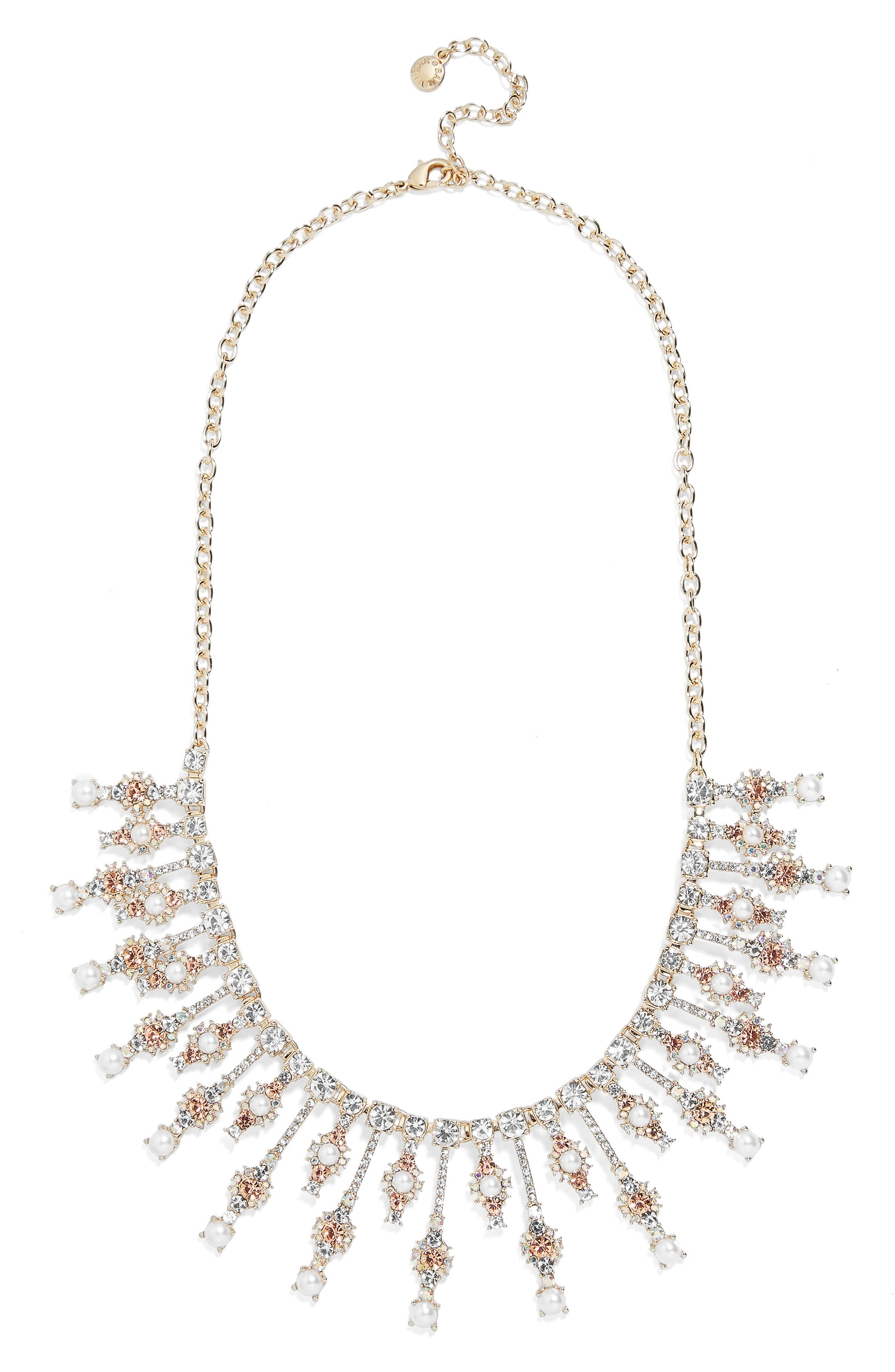 x Micaela Erlanger Roll Out the Red Carpet Statement Necklace,                             Main thumbnail 1, color,                             GOLD