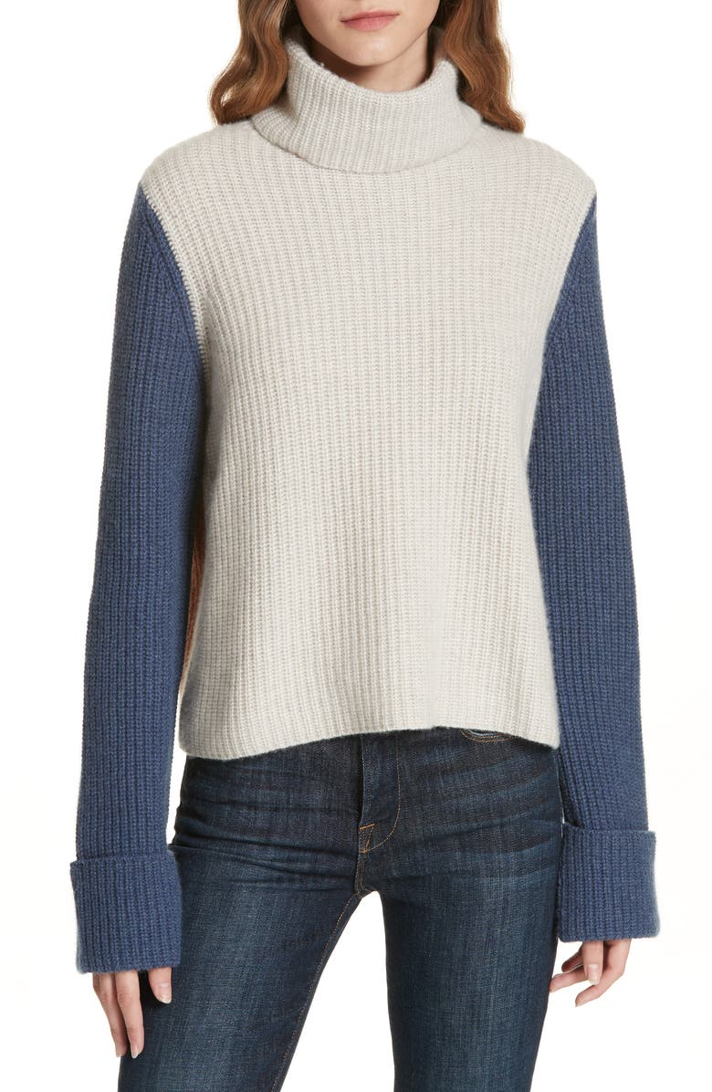 Autumn Cashmere COLORBLOCK CASHMERE SWEATER