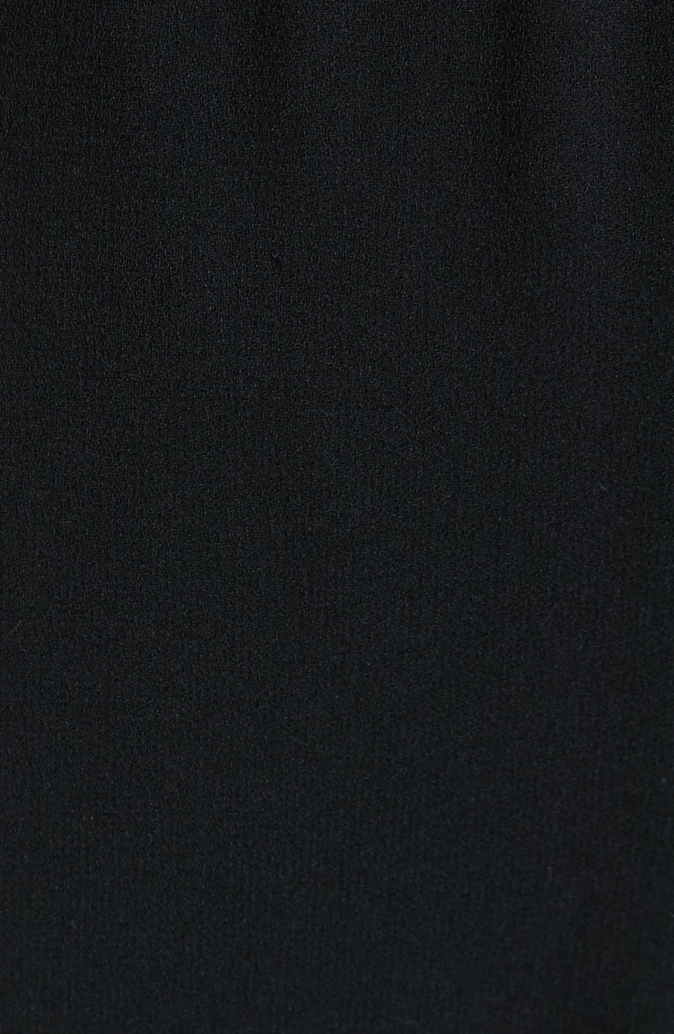 Milo Track Pants,                             Alternate thumbnail 5, color,                             BLACK/ WHITE