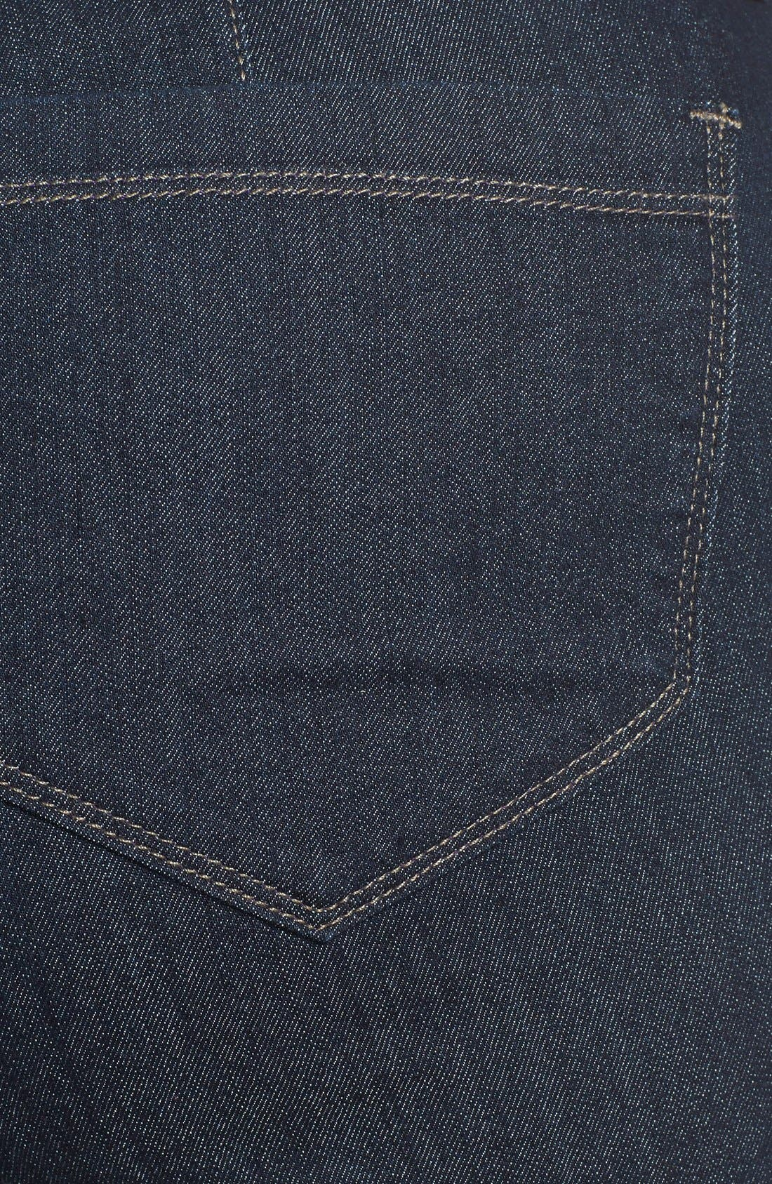 'Isabella' Stretch Trouser Jeans,                             Alternate thumbnail 4, color,                             DARK ENZYME
