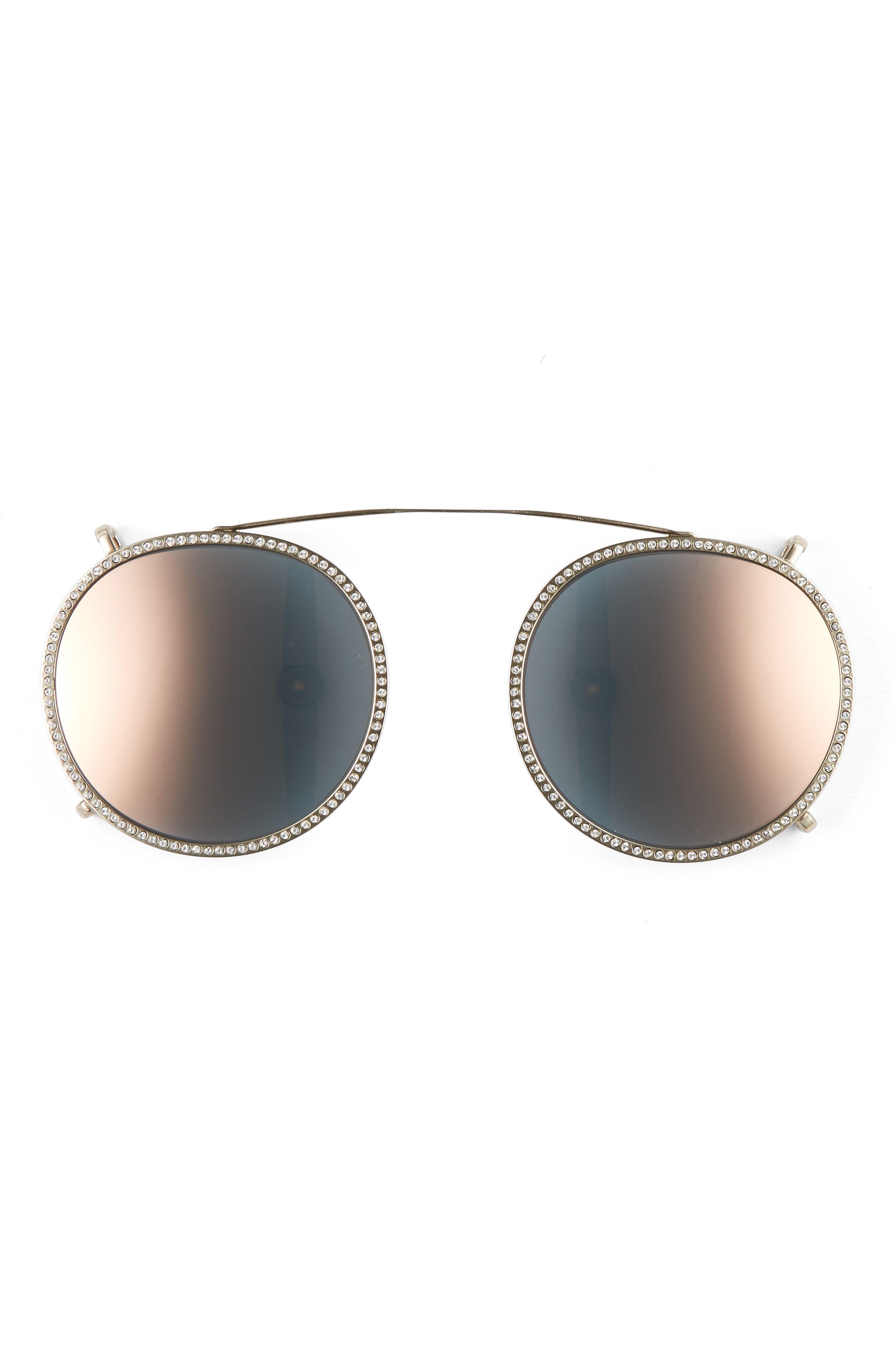 47mm Round Sunglasses,                             Alternate thumbnail 9, color,
