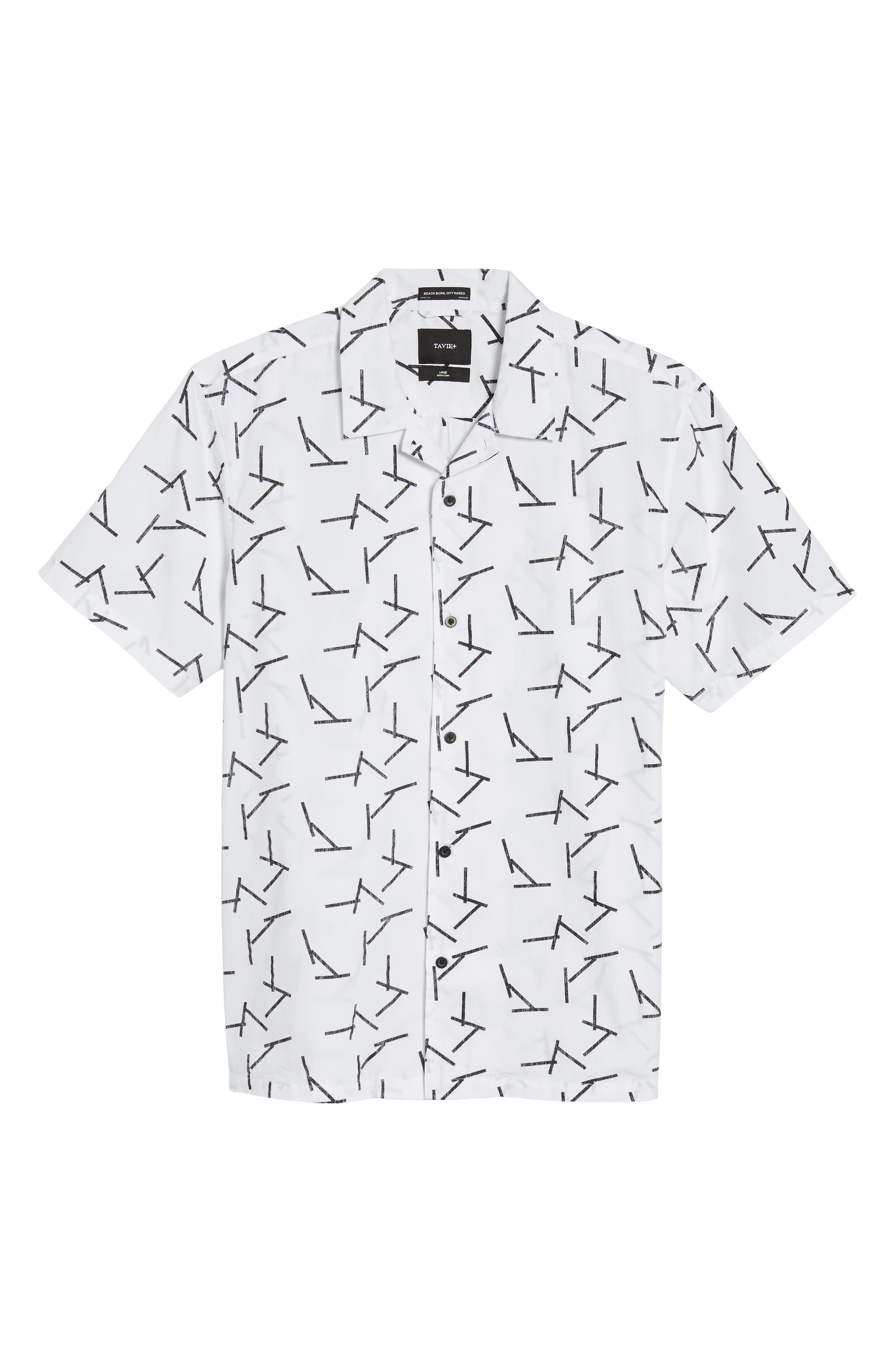 TAVIK,                             Villa Sticks Woven Shirt,                             Alternate thumbnail 6, color,                             135