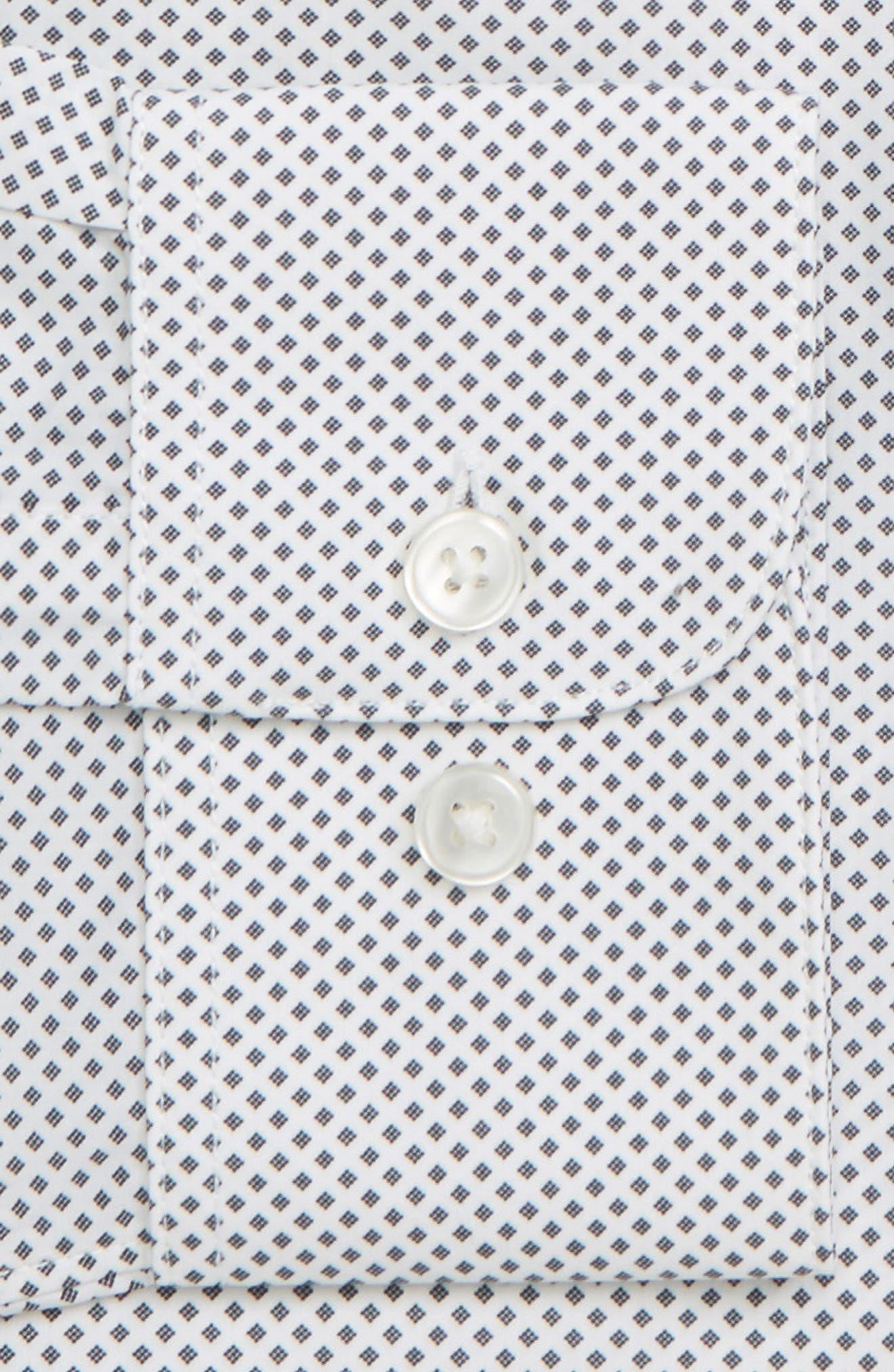 Regular Fit Geometric Dress Shirt,                             Alternate thumbnail 6, color,                             THUNDER GREY