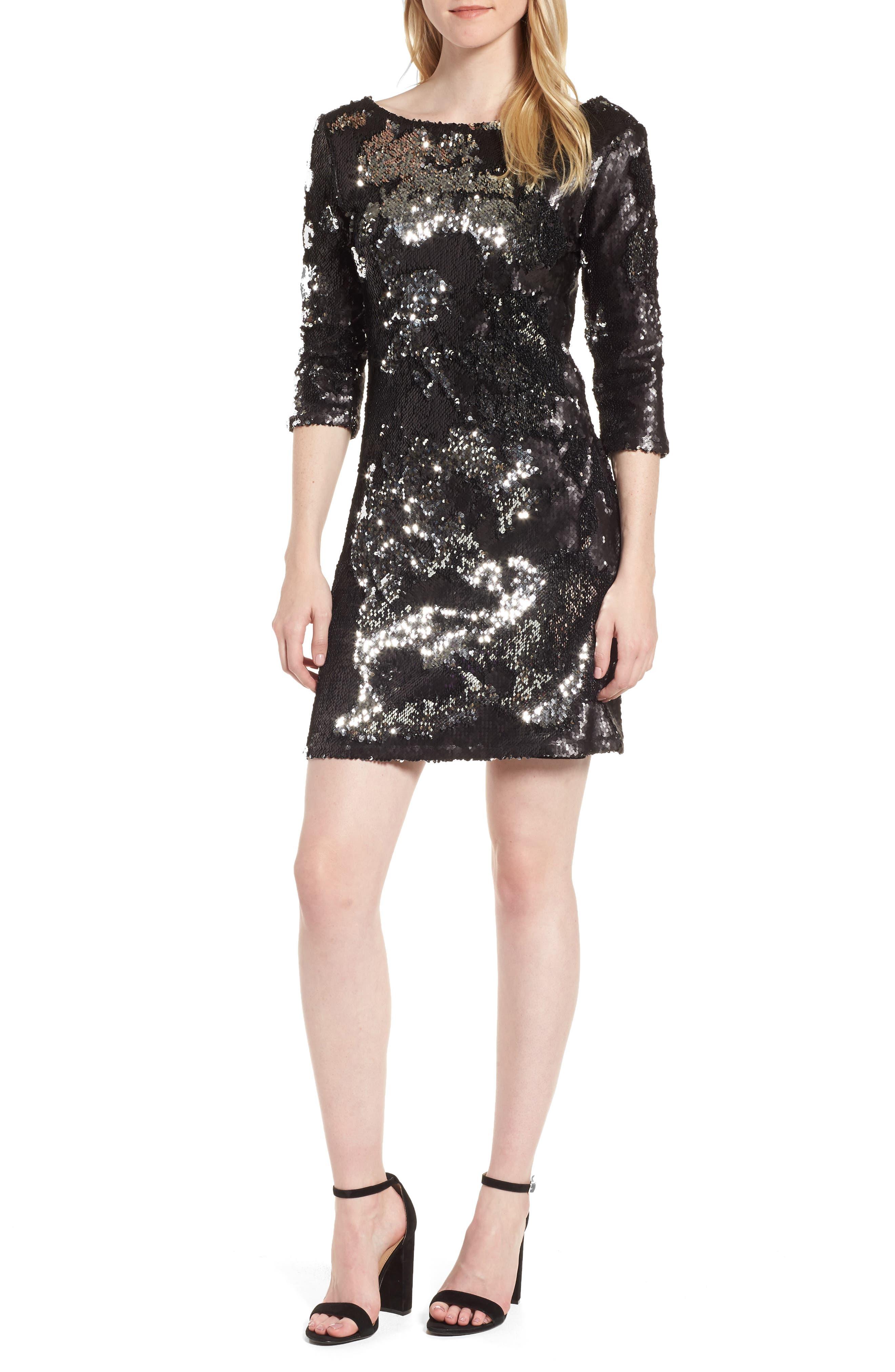 Sequin Minidress,                         Main,                         color,
