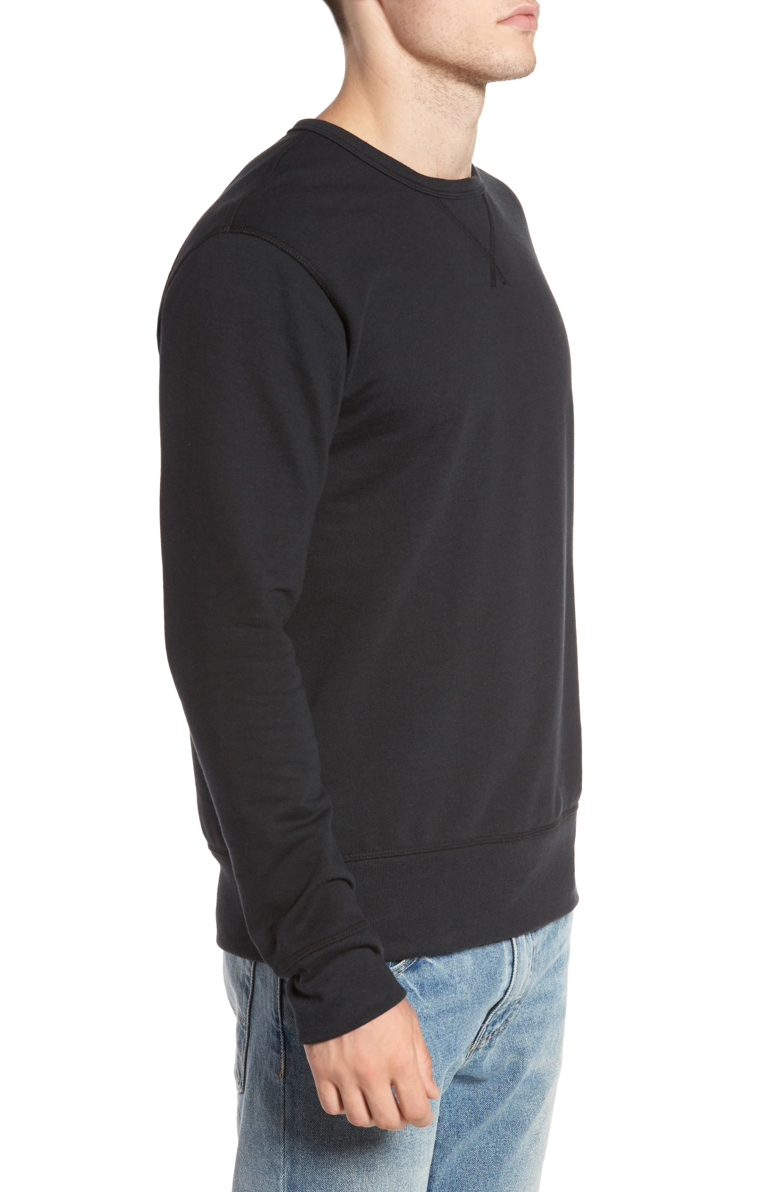 B-Side Reversible Crewneck Sweatshirt,                             Alternate thumbnail 3, color,                             001