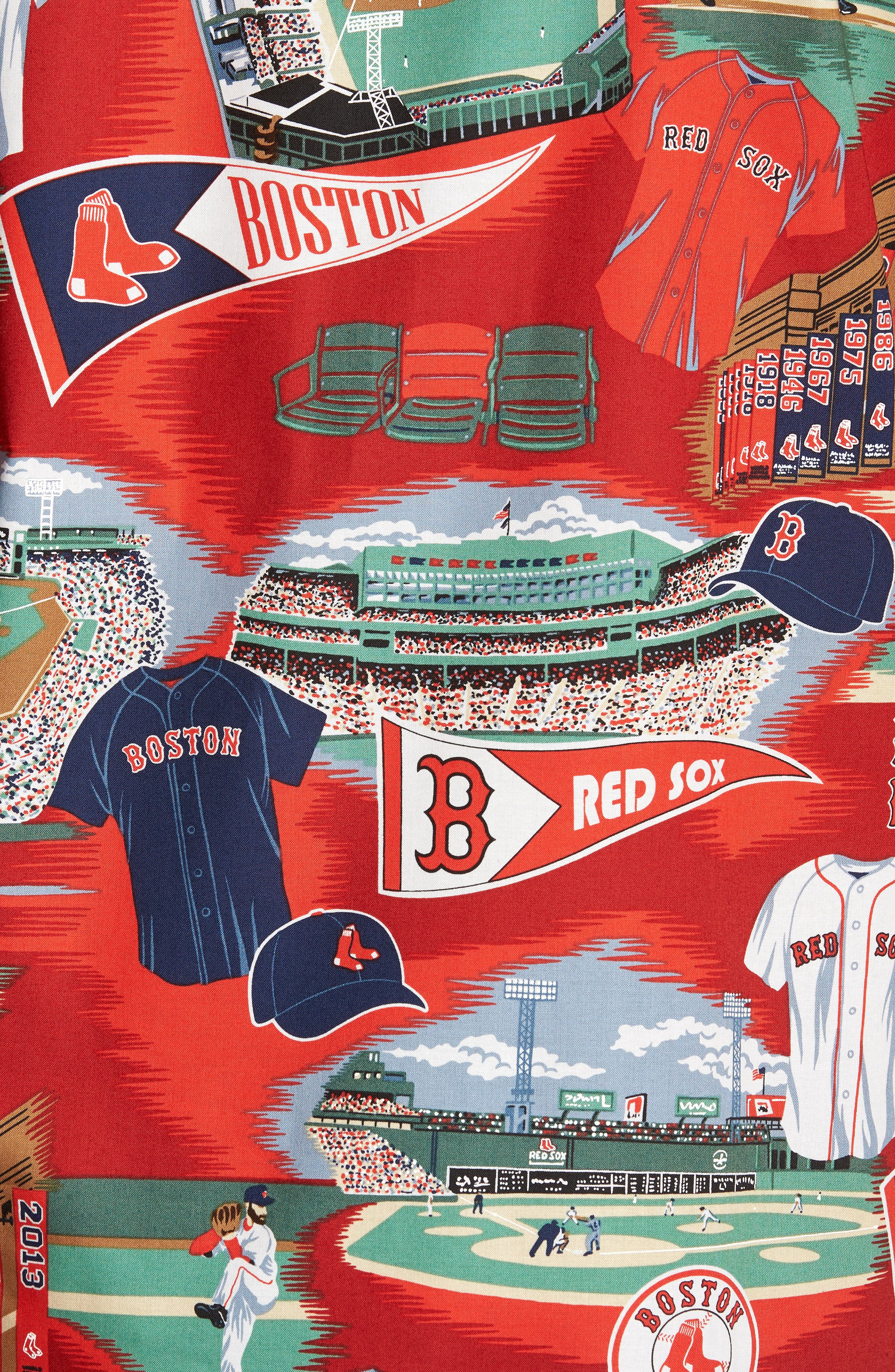 Boston Red Sox Classic Fit Camp Shirt,                             Alternate thumbnail 5, color,                             115