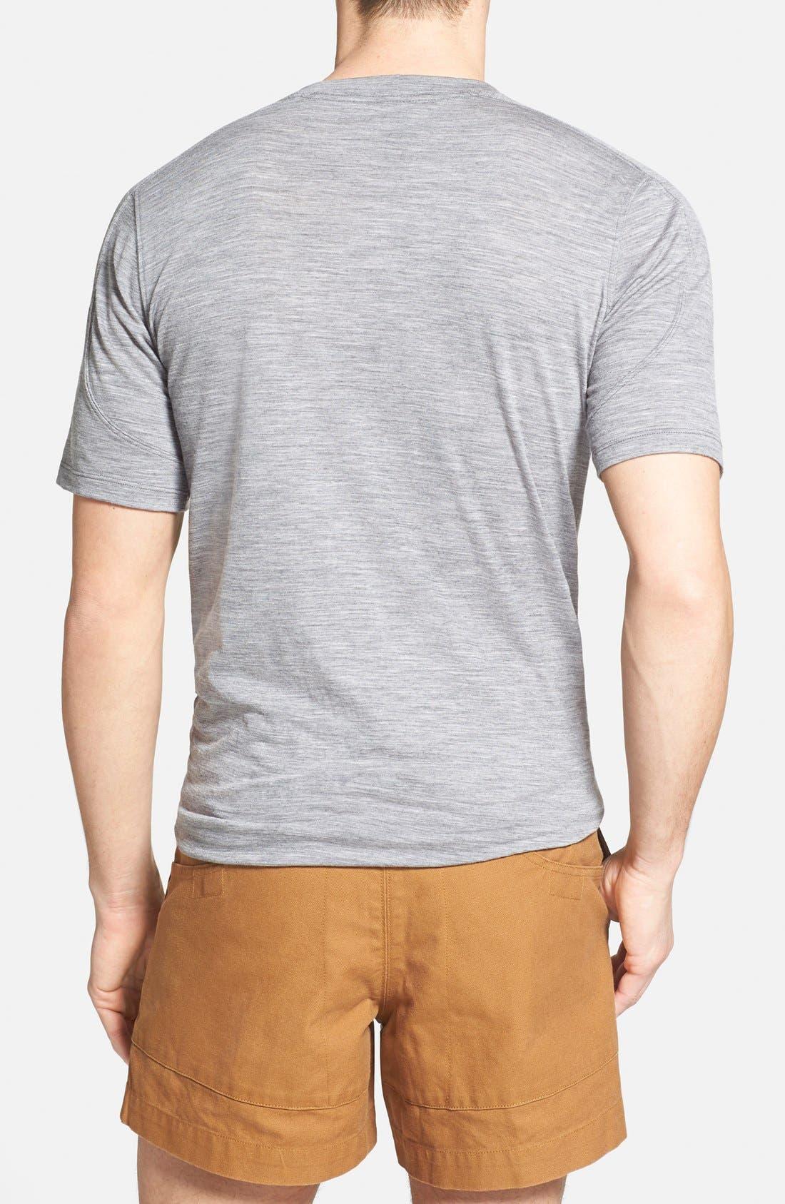 Regular Fit Overdyed Merino Wool T-Shirt,                             Alternate thumbnail 3, color,                             020