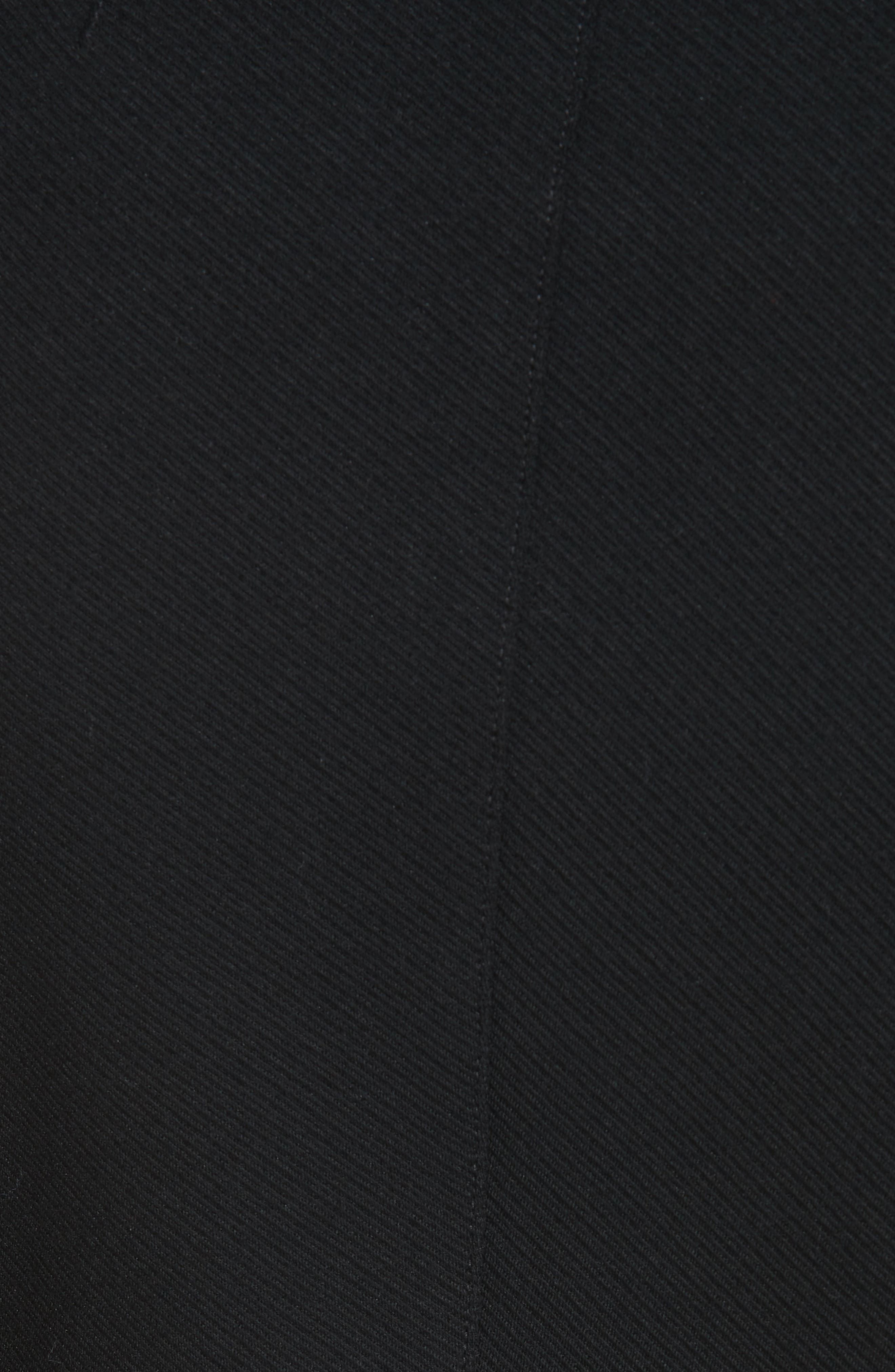 Sculpted Twill Knit Jacket,                             Alternate thumbnail 6, color,                             BLACK