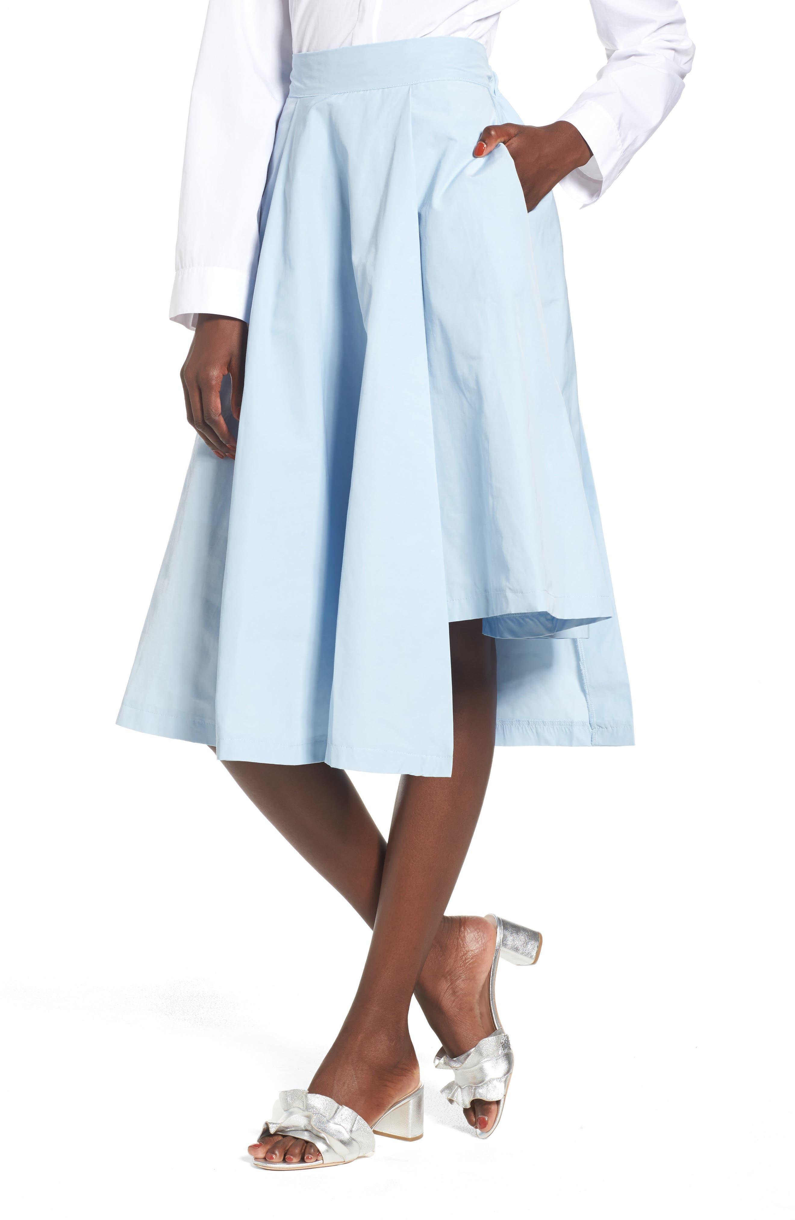 Step Hem Skirt,                         Main,                         color, 400
