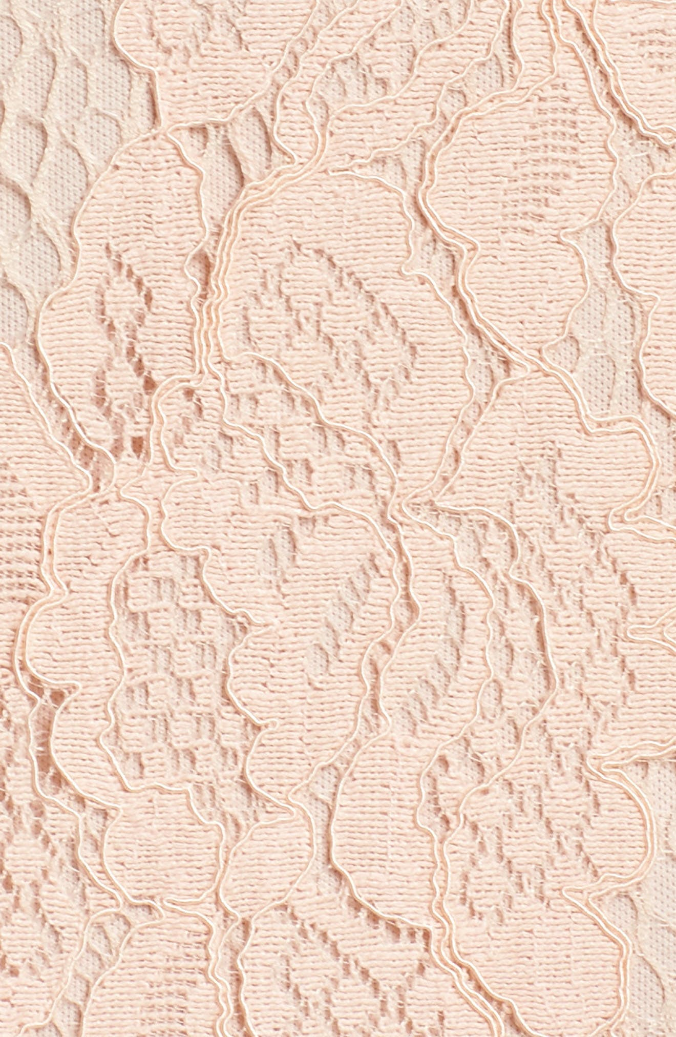 Esti Bustier Bodice Lace Gown,                             Alternate thumbnail 6, color,                             BLUSH