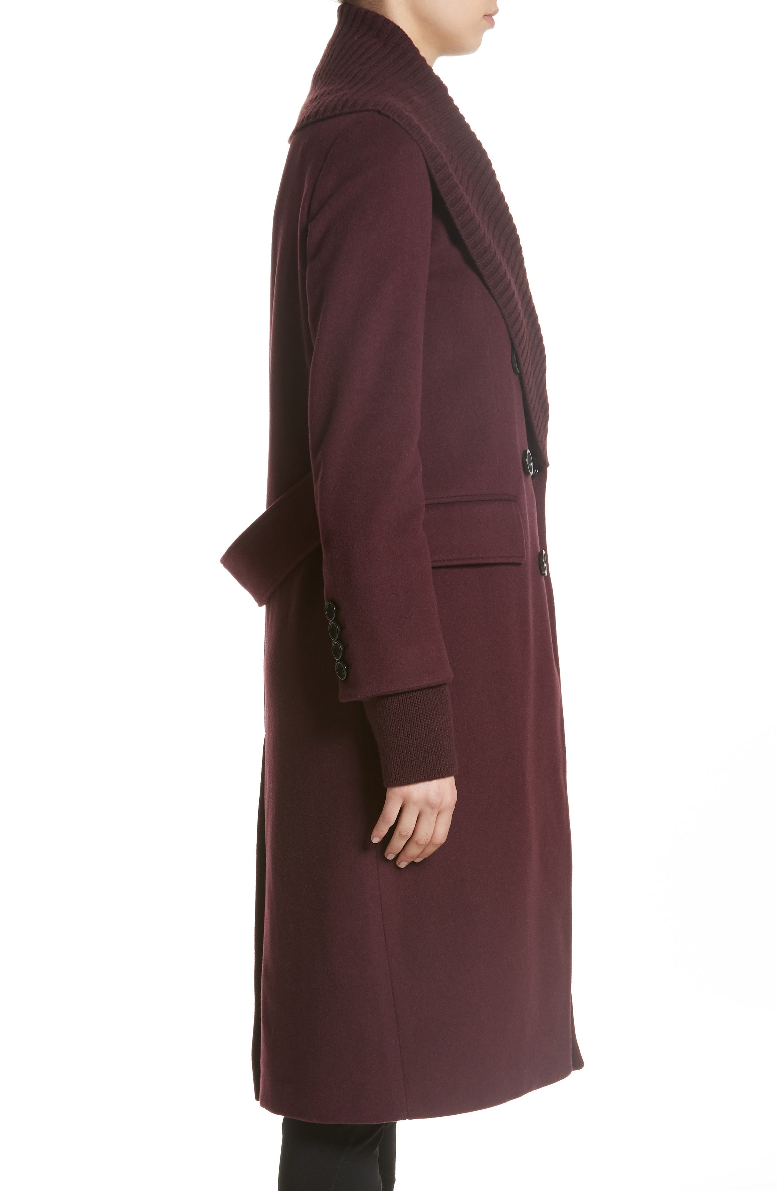 Cairndale Knit Trim Cashmere Coat,                             Alternate thumbnail 3, color,                             522