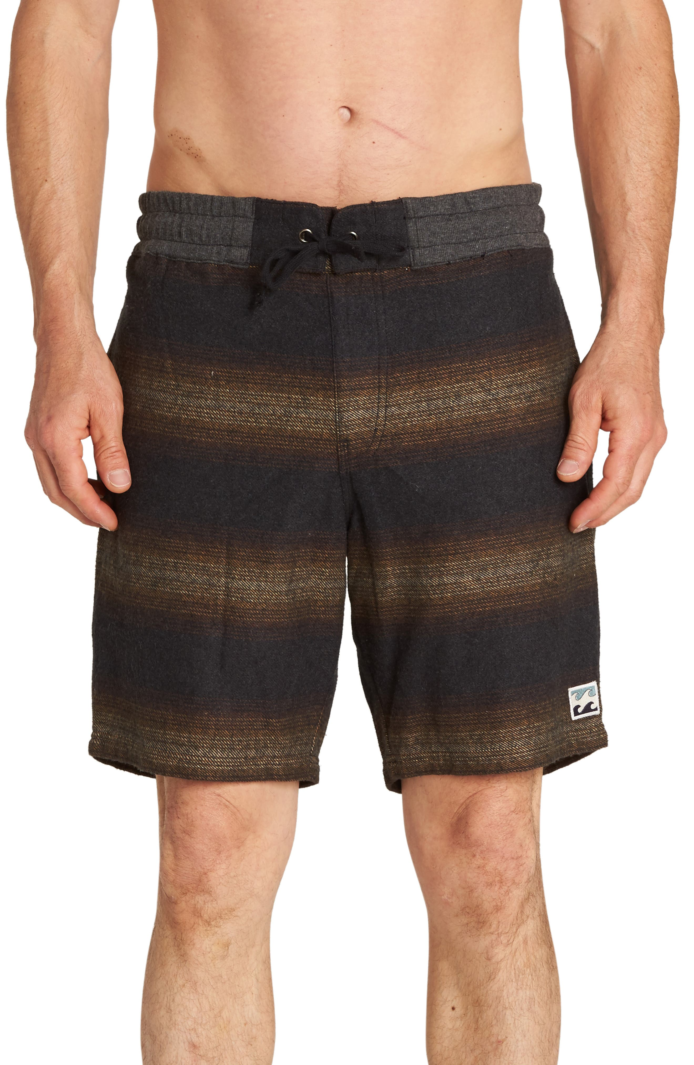 Larry Layback Baja Shorts,                         Main,                         color, BLACK