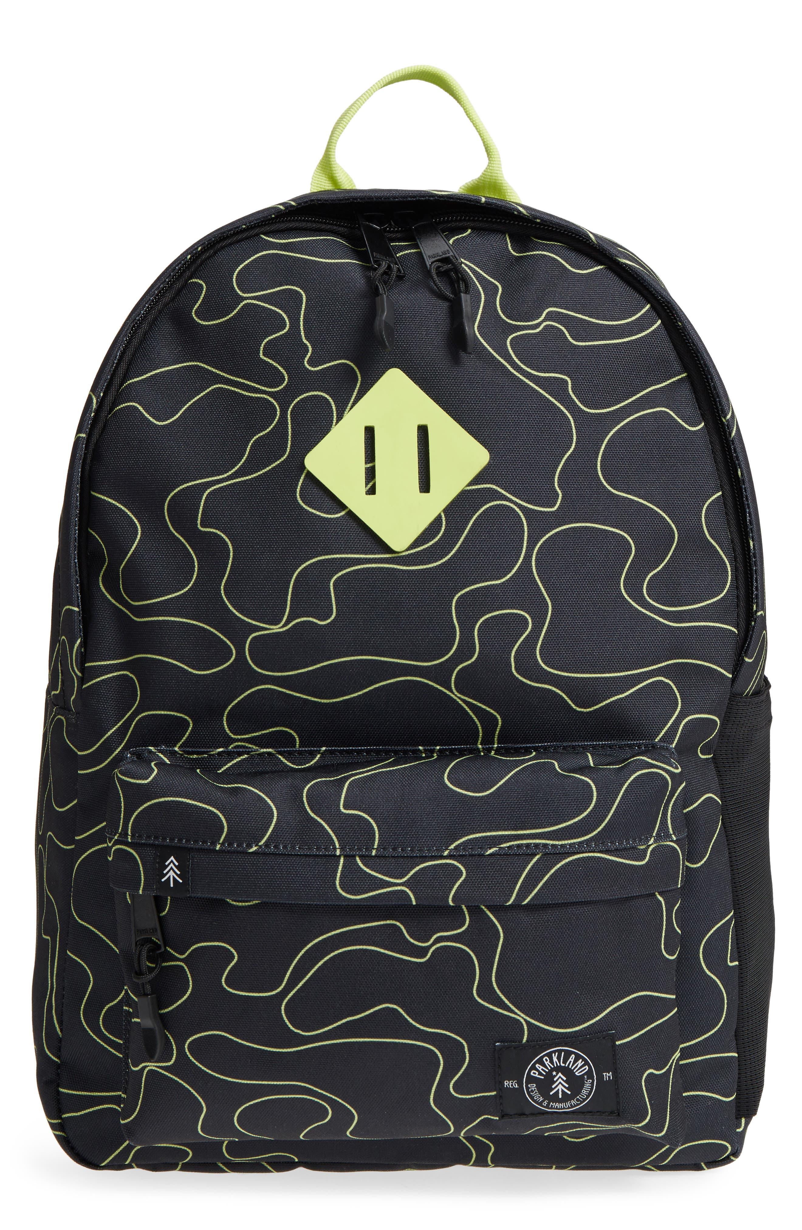 Bayside Print Backpack,                             Main thumbnail 3, color,