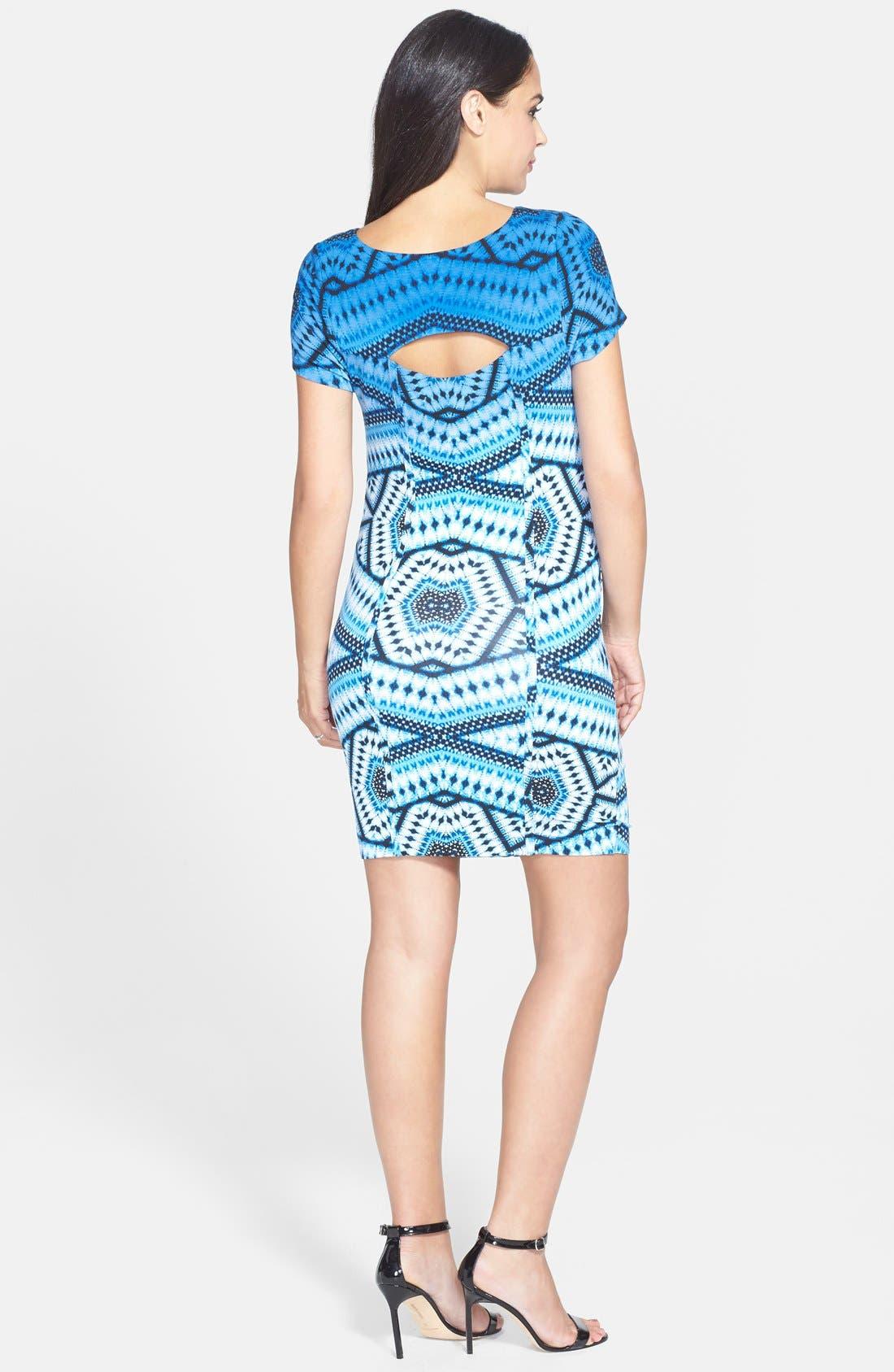 'Leilah' Body-Con Print Maternity Dress,                             Alternate thumbnail 12, color,