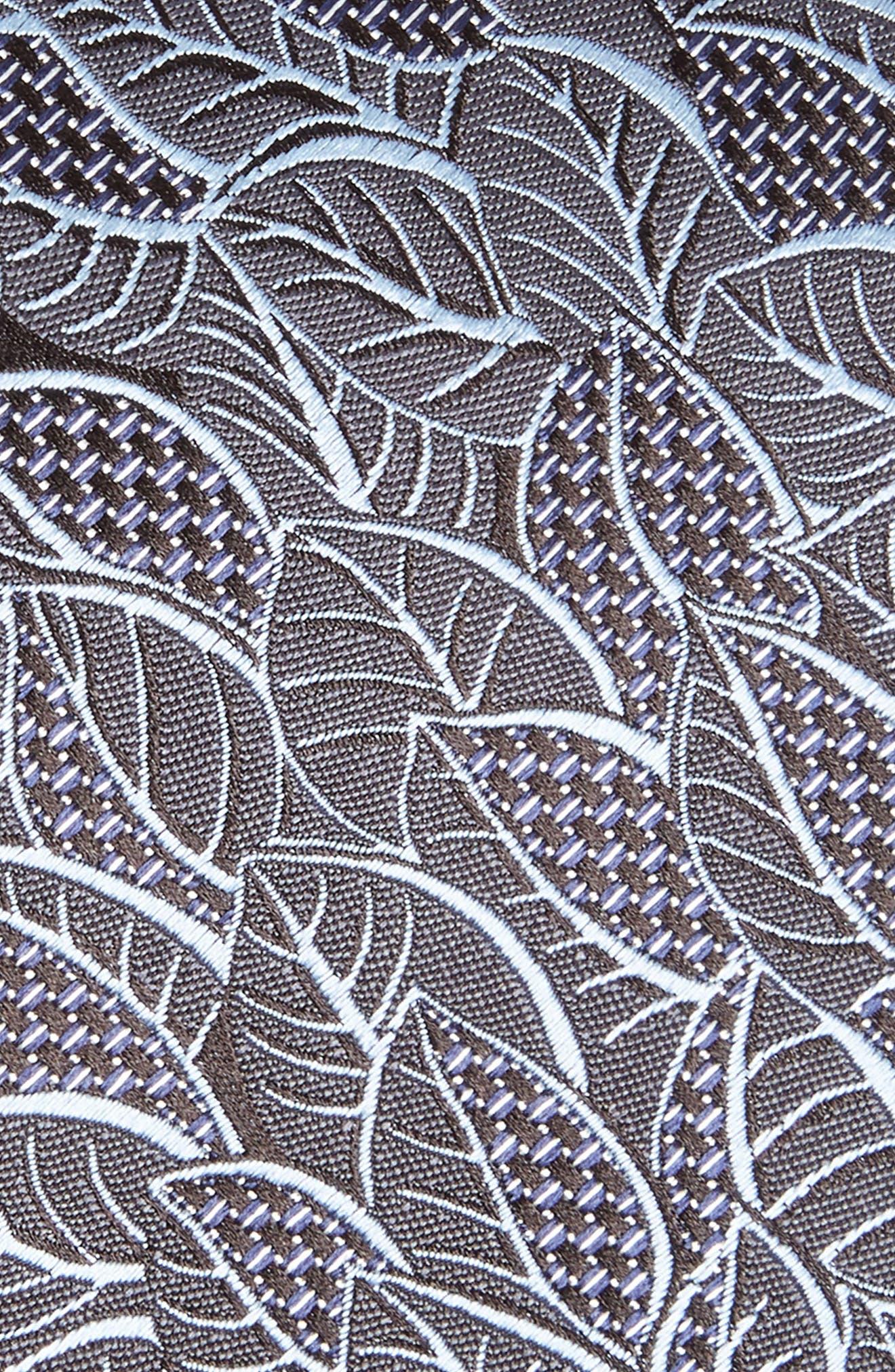 Leaf Silk Tie,                             Alternate thumbnail 2, color,                             SLATE