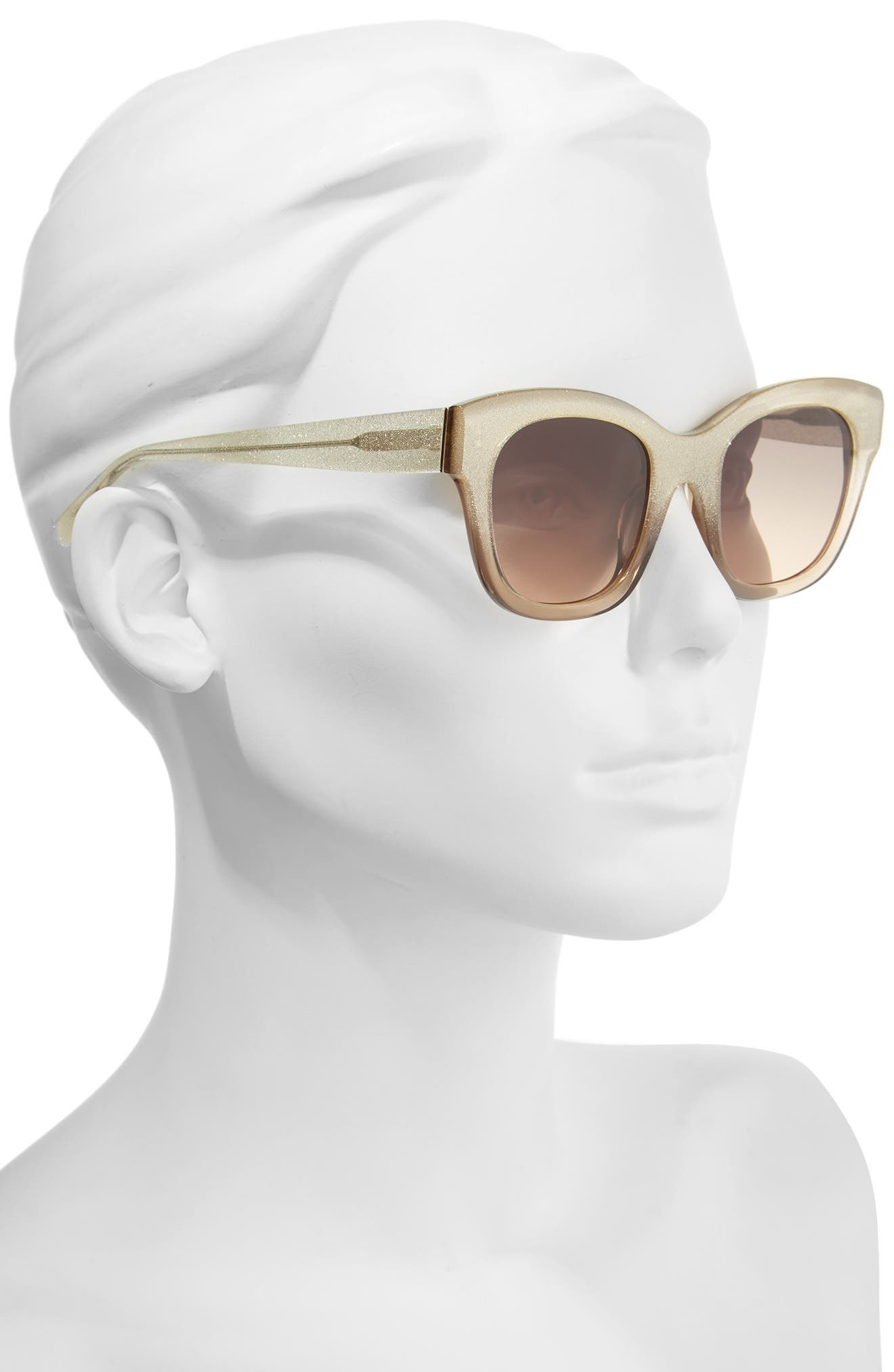Victoria 50mm Cat Eye Sunglasses,                             Alternate thumbnail 2, color,                             001