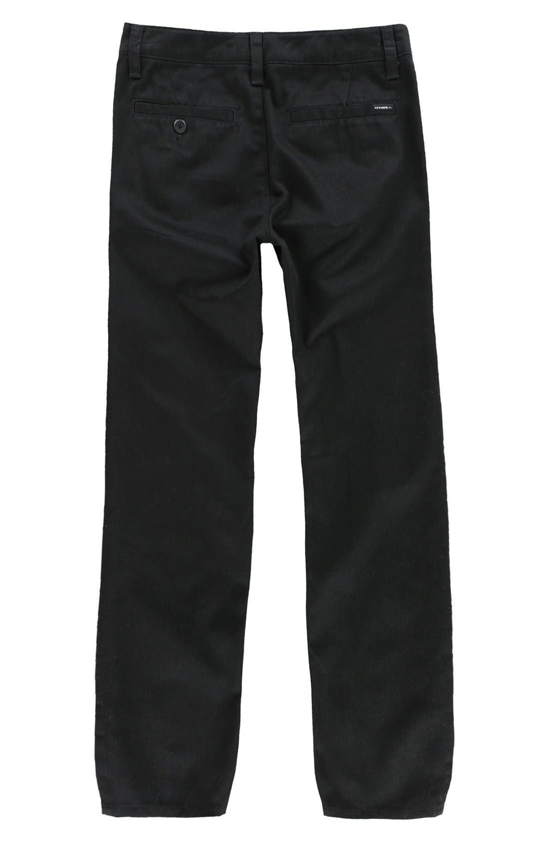 Contact Straight Leg Twill Pants,                             Alternate thumbnail 2, color,                             001