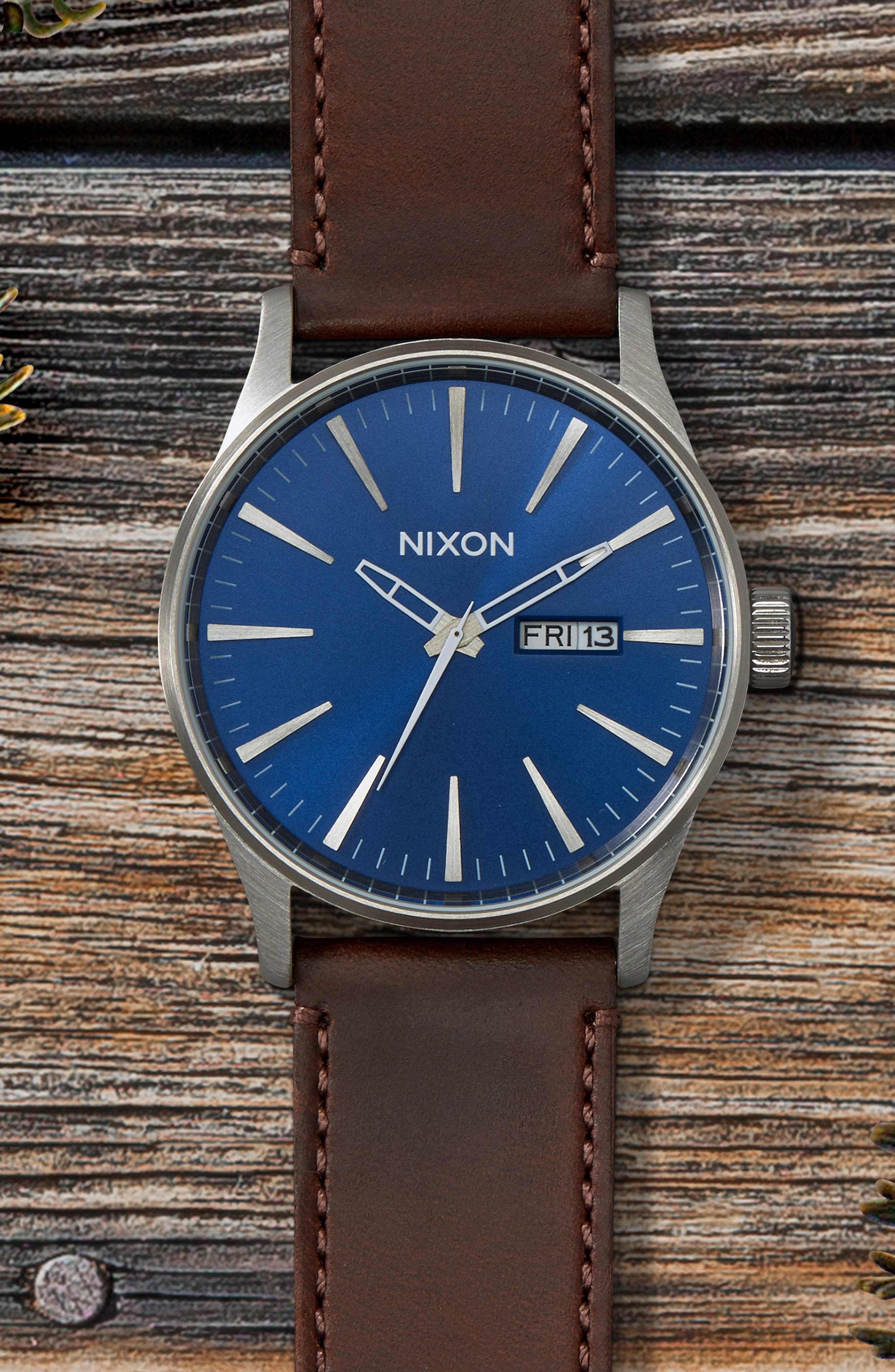 The Sentry Leather Strap Watch, 42mm,                             Alternate thumbnail 81, color,