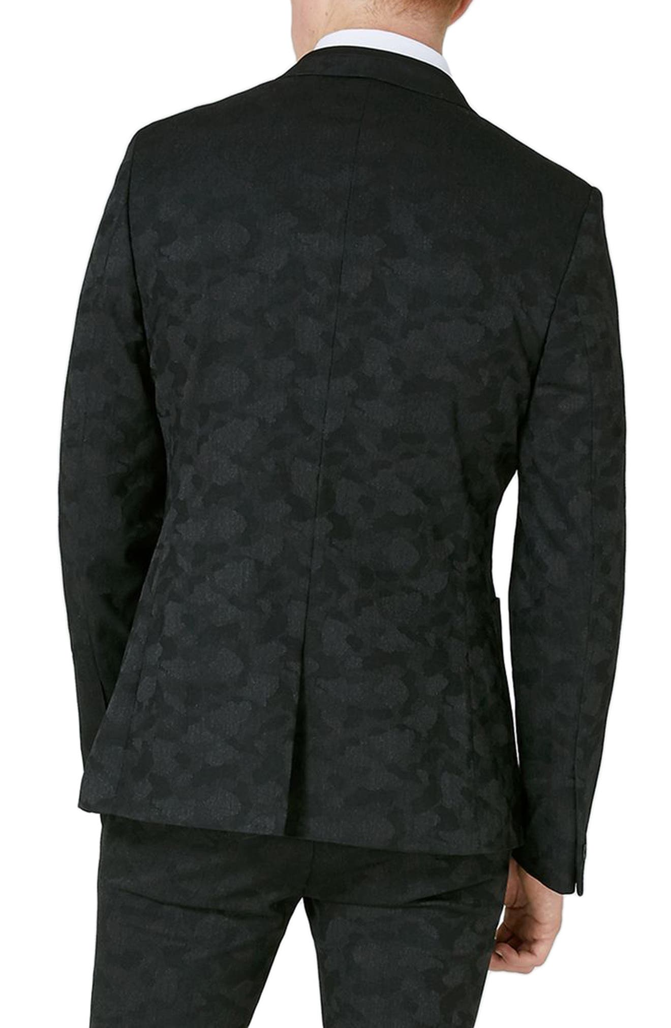 Shadow Camo Ultra Skinny Fit Suit Jacket,                             Alternate thumbnail 2, color,                             020