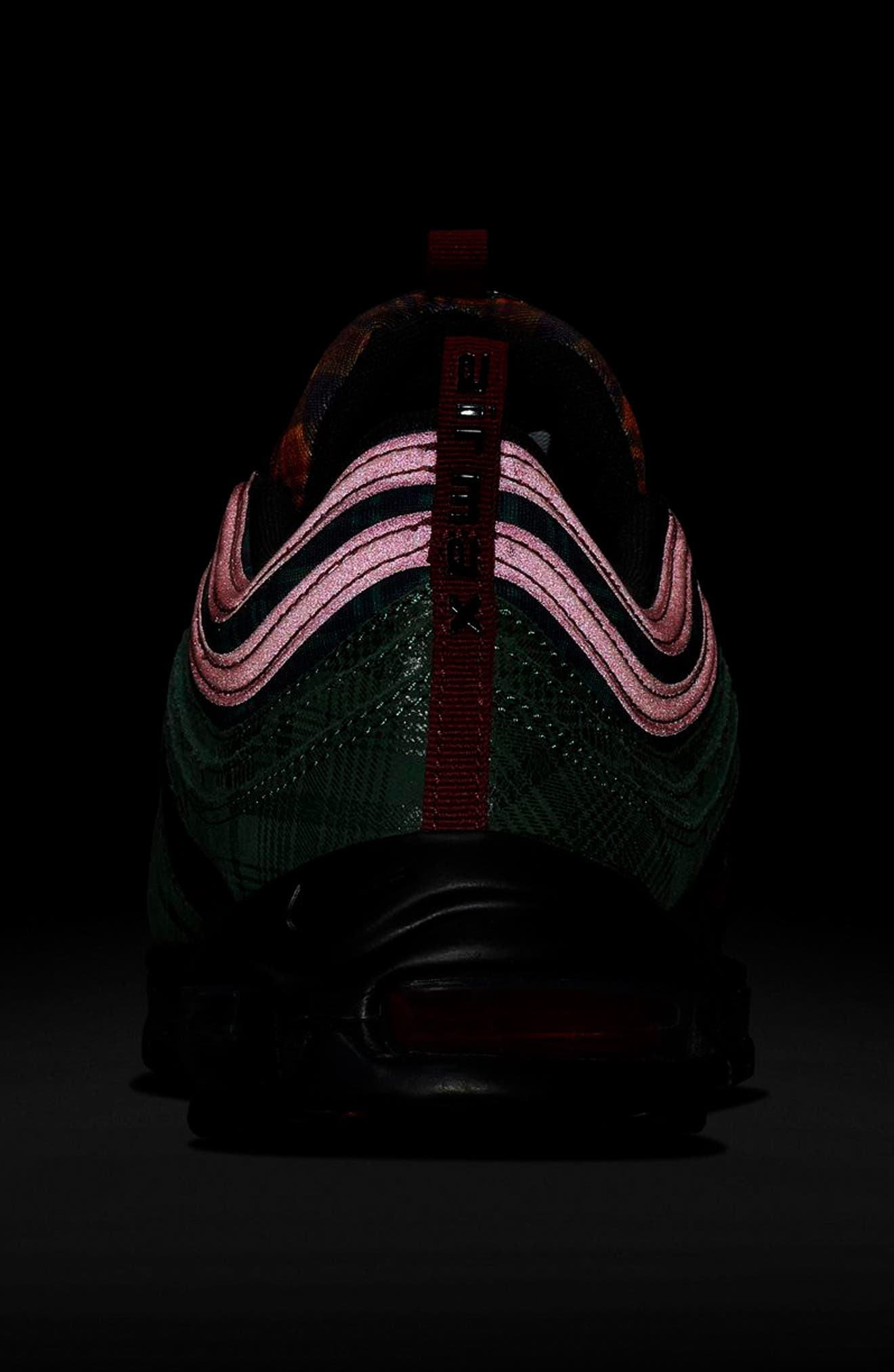 Air Max 97 NRG Sneaker,                             Alternate thumbnail 8, color,                             TEAM RED/ MIDNIGHT SPRUCE