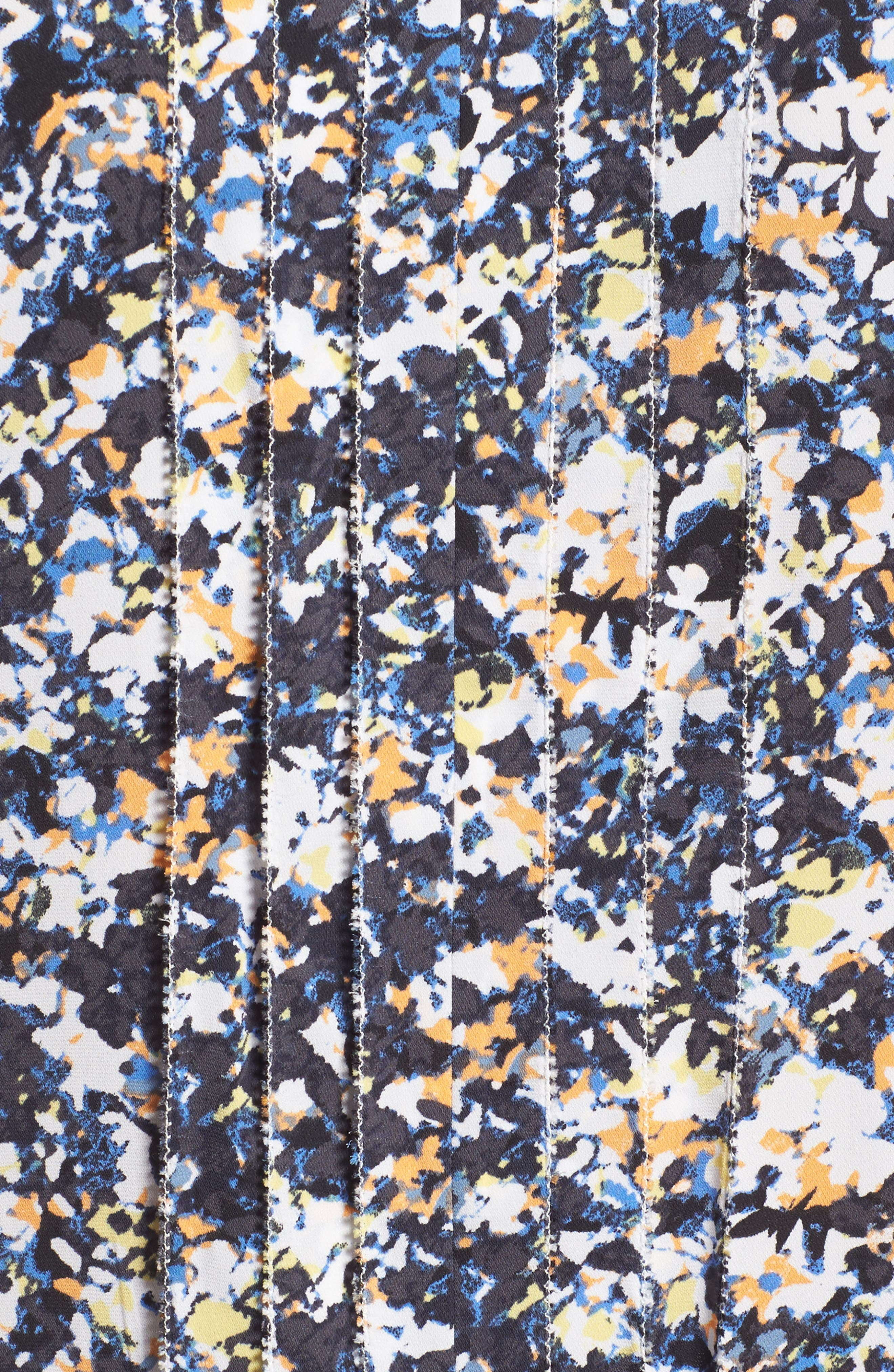 Picot Detail Silk Blend Blouse,                             Alternate thumbnail 5, color,                             030