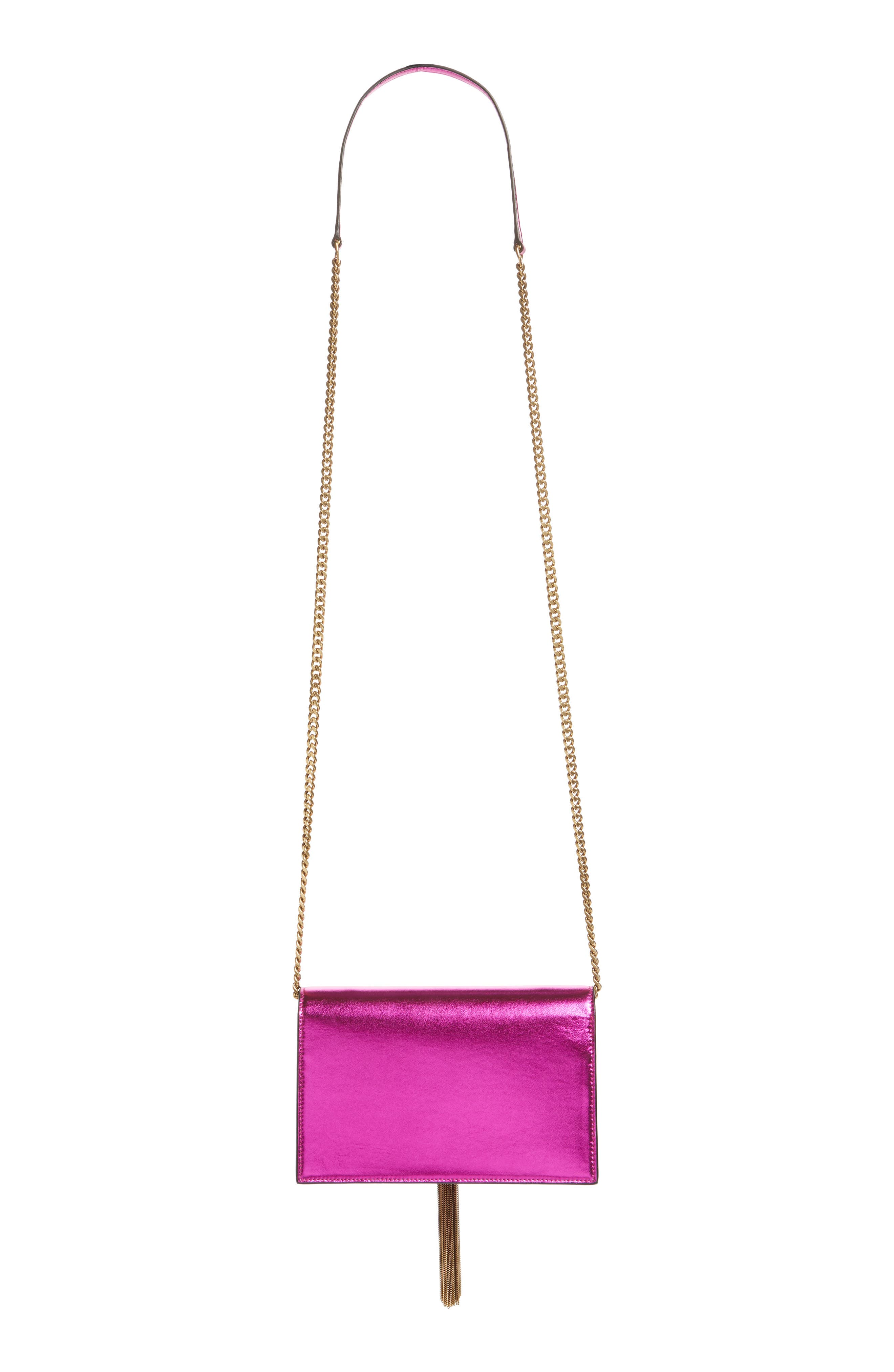 Kate Metallic Wallet on a Chain,                             Alternate thumbnail 4, color,                             675