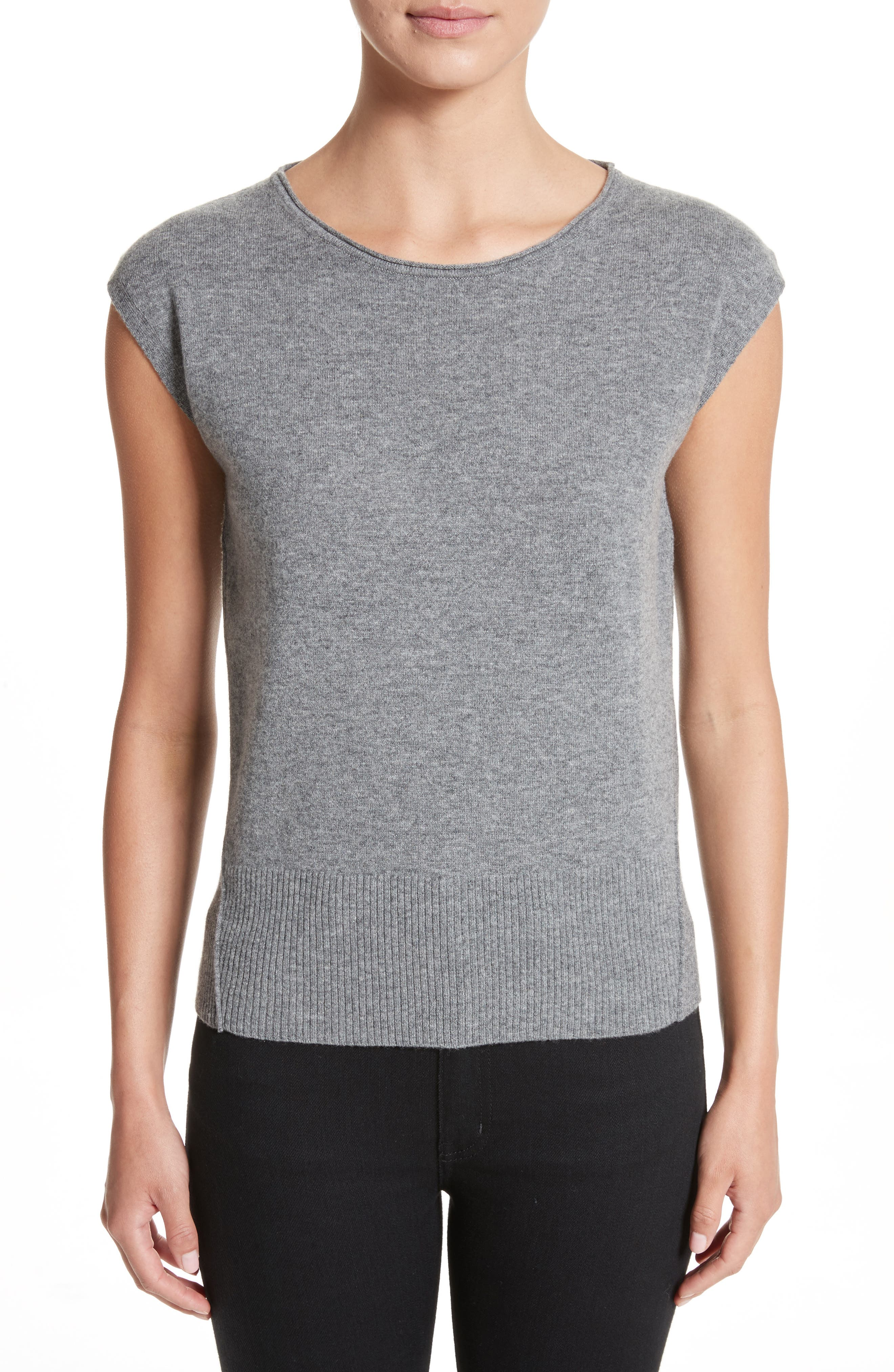 Wool & Cashmere Knit Top,                             Main thumbnail 1, color,                             081