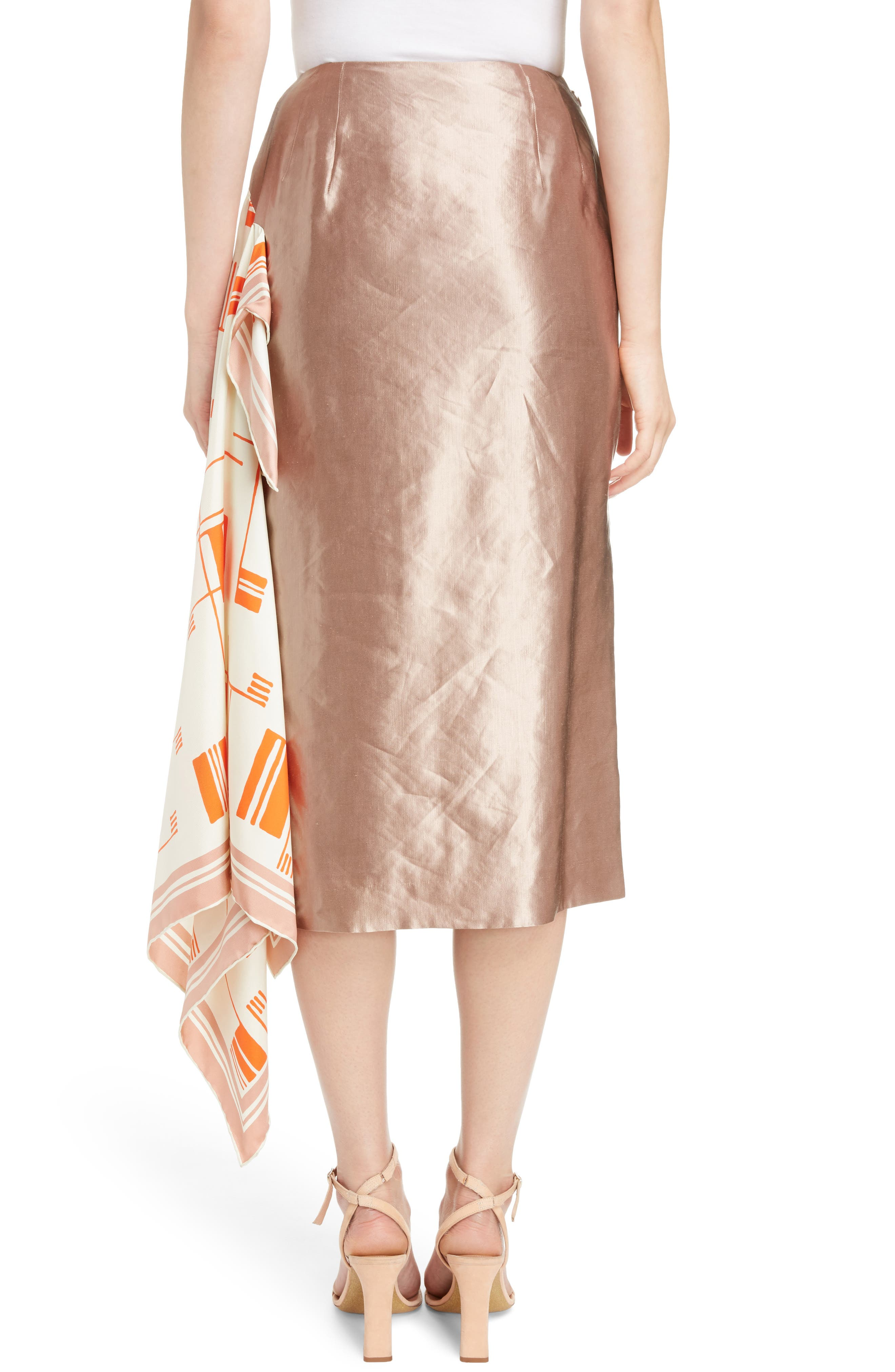 Scarf Satin Skirt,                             Alternate thumbnail 2, color,                             220