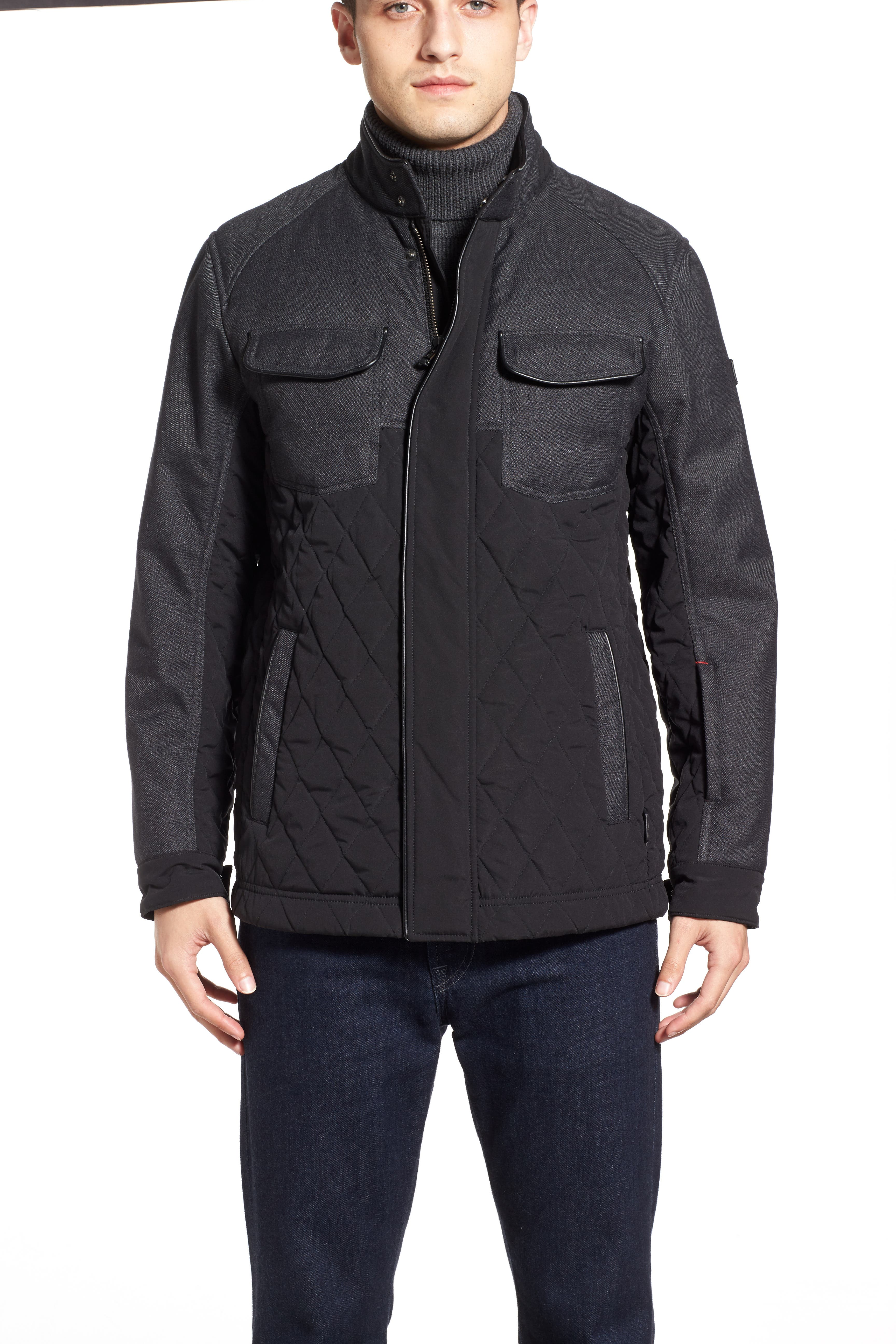 'Heritage' Quilted Jacket,                             Alternate thumbnail 5, color,                             001