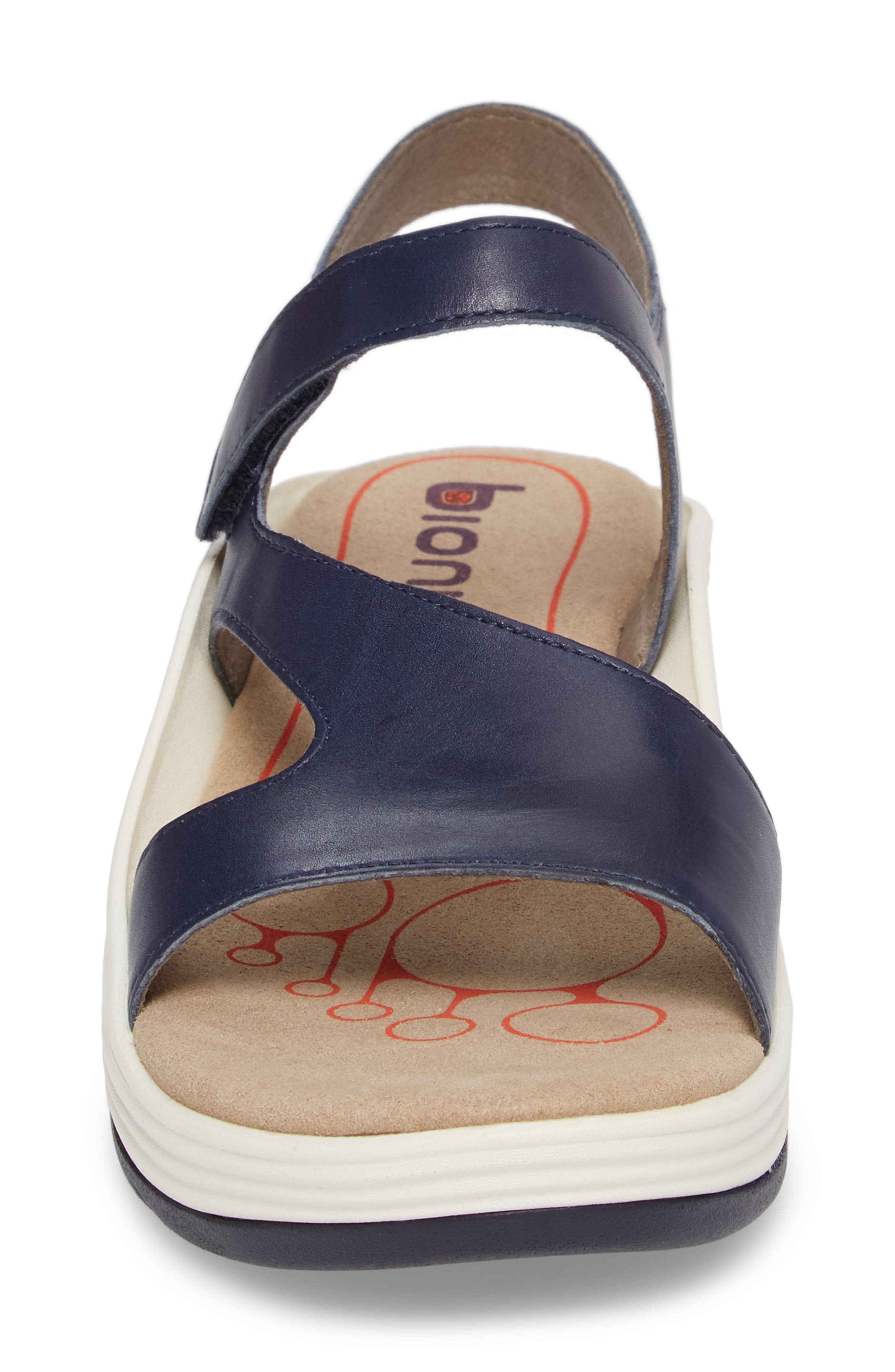 Cybele Platform Sandal,                             Alternate thumbnail 4, color,                             PEACOAT NAVY LEATHER